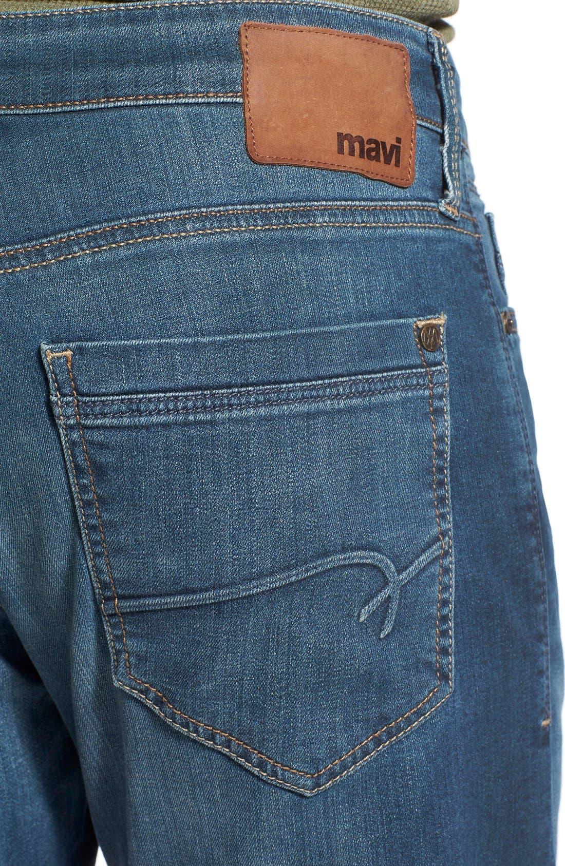 Myles Straight Leg Jeans,                             Alternate thumbnail 5, color,                             SHADED WILLIAMSBURG