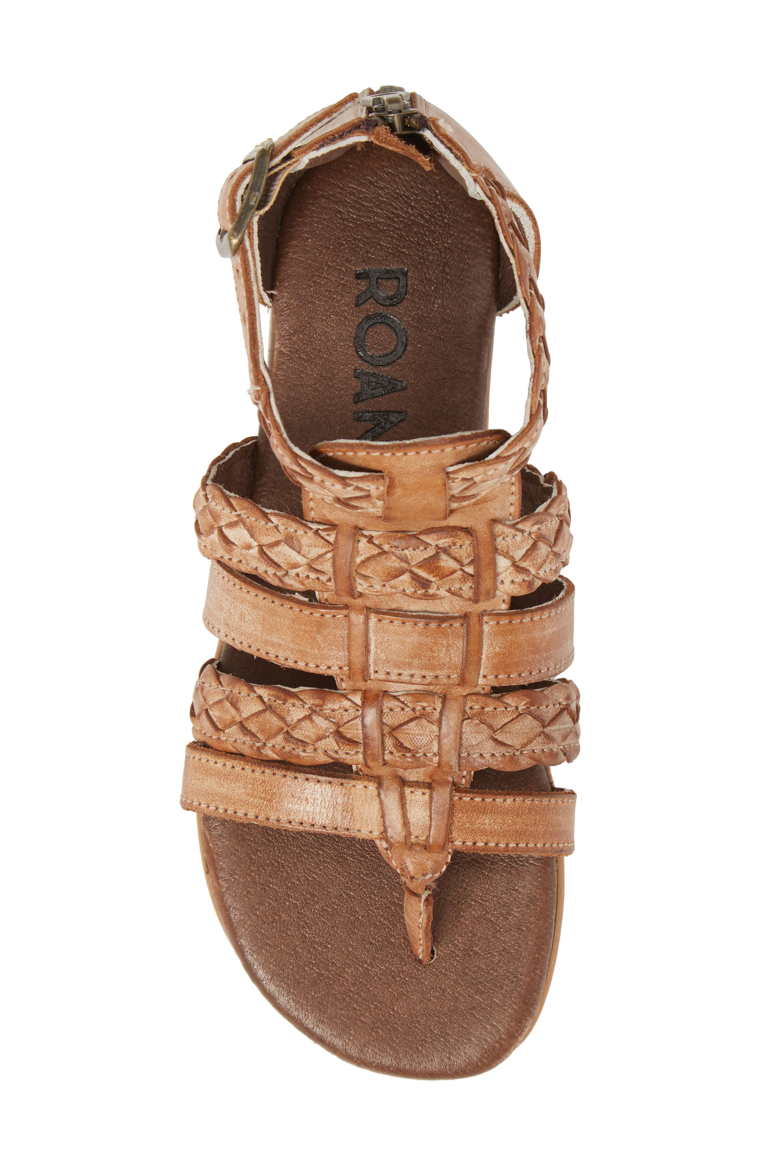 Kaliope Sandal,                             Alternate thumbnail 5, color,                             VICTORIA COGNAC/ WHITE