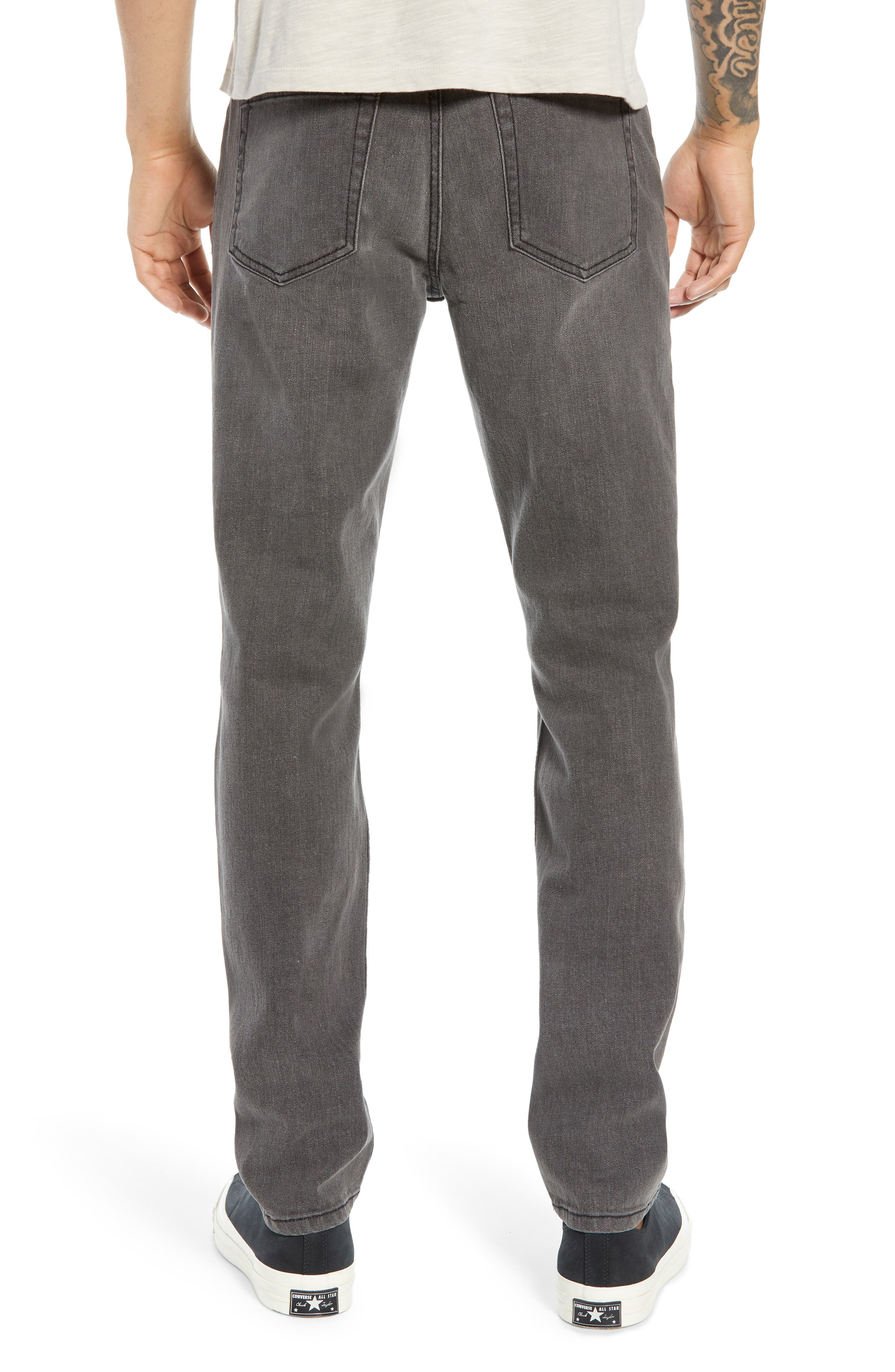 THE RAIL,                             Ripped Skinny Jeans,                             Alternate thumbnail 2, color,                             GREY CHRIS WASH