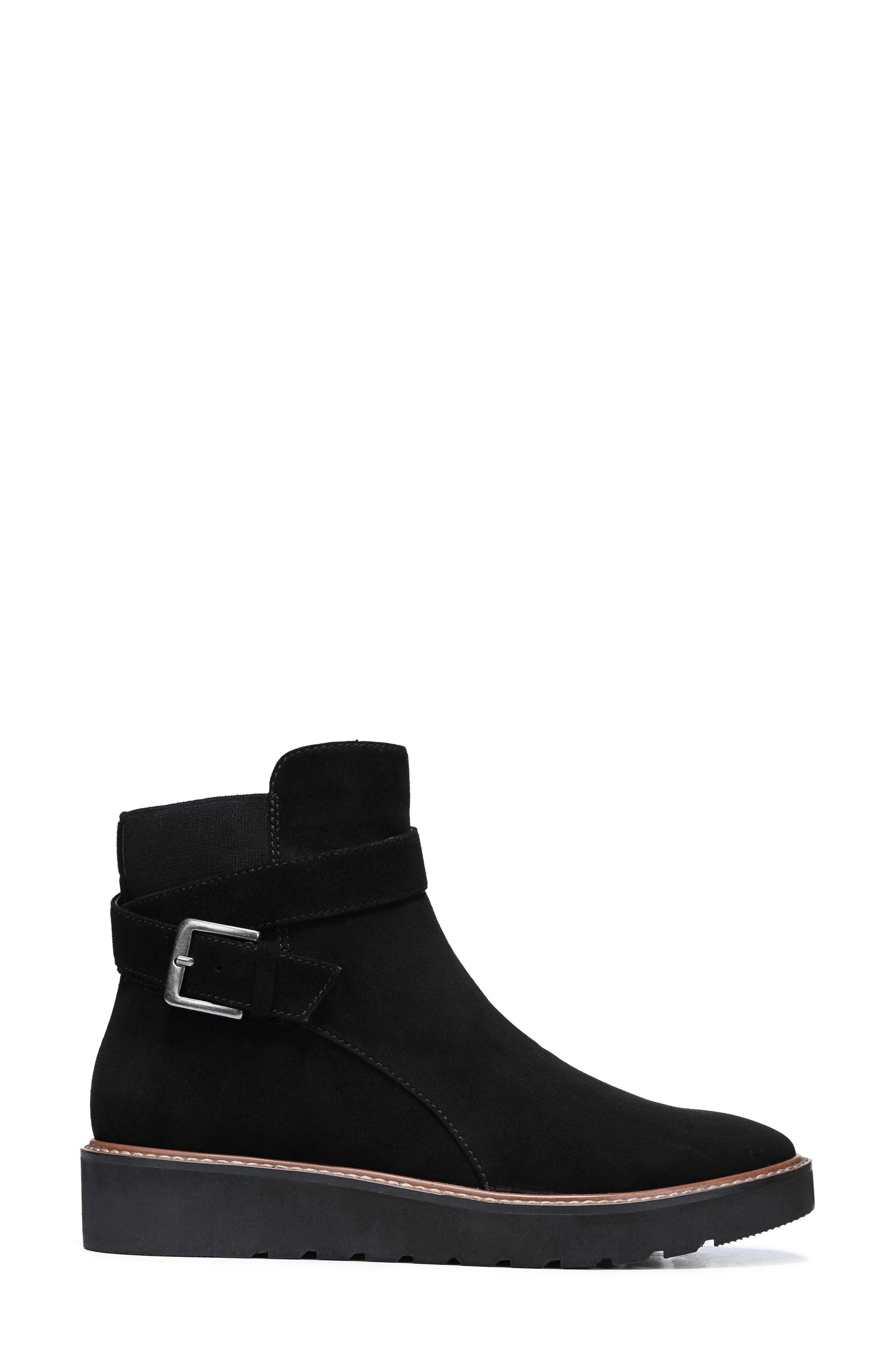 Aster Bootie,                             Alternate thumbnail 3, color,                             BLACK SUEDE