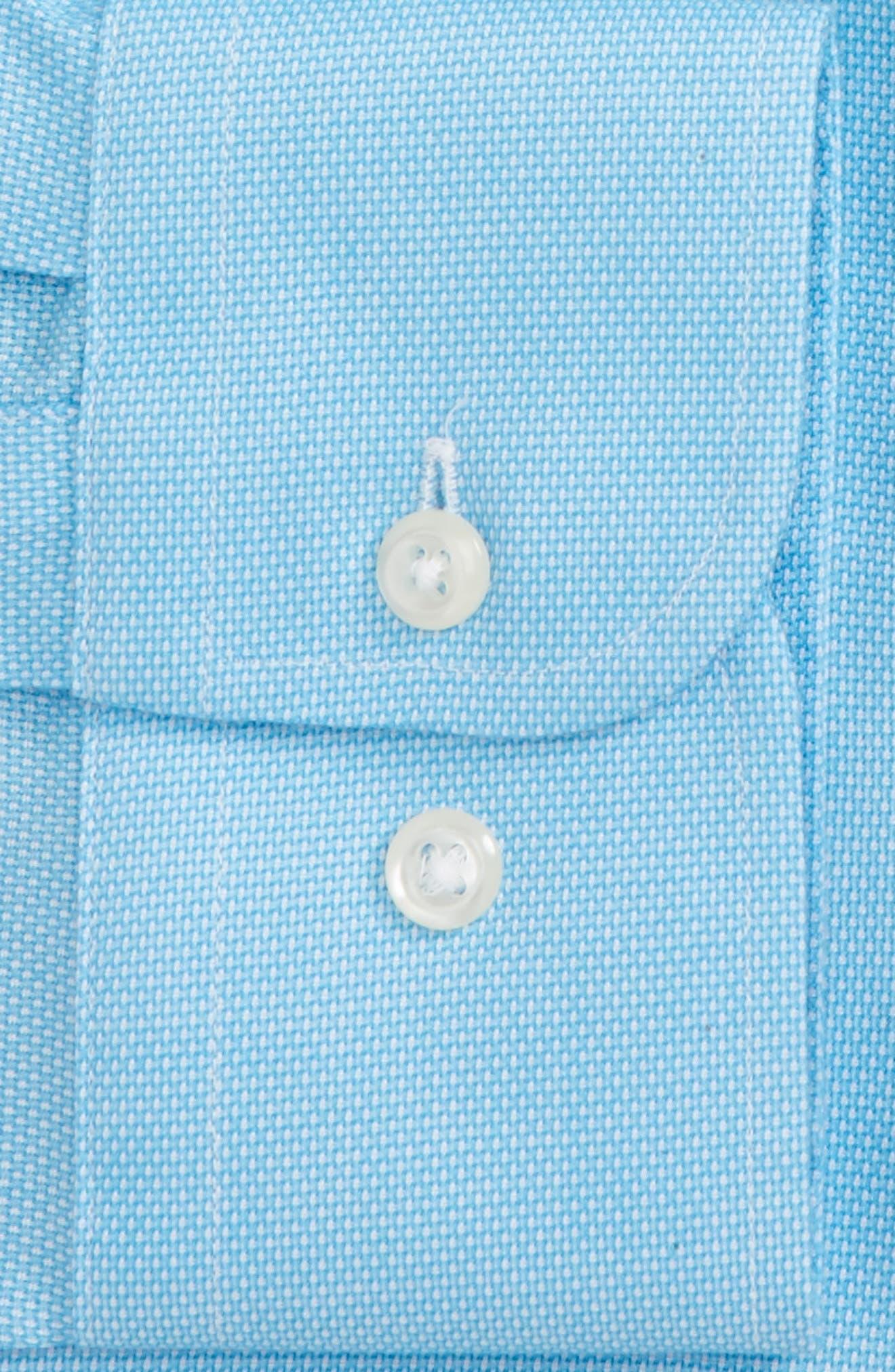 Smartcare<sup>™</sup> Trim Fit Oxford Dress Shirt,                             Alternate thumbnail 8, color,