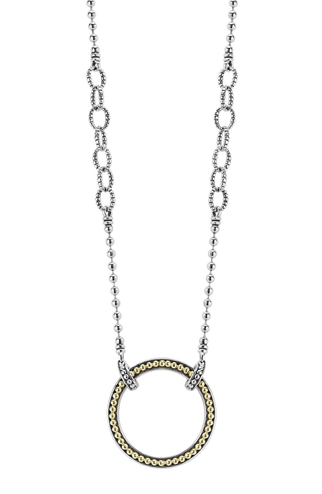Enso Pendant Necklace,                             Main thumbnail 1, color,                             SILVER/ GOLD