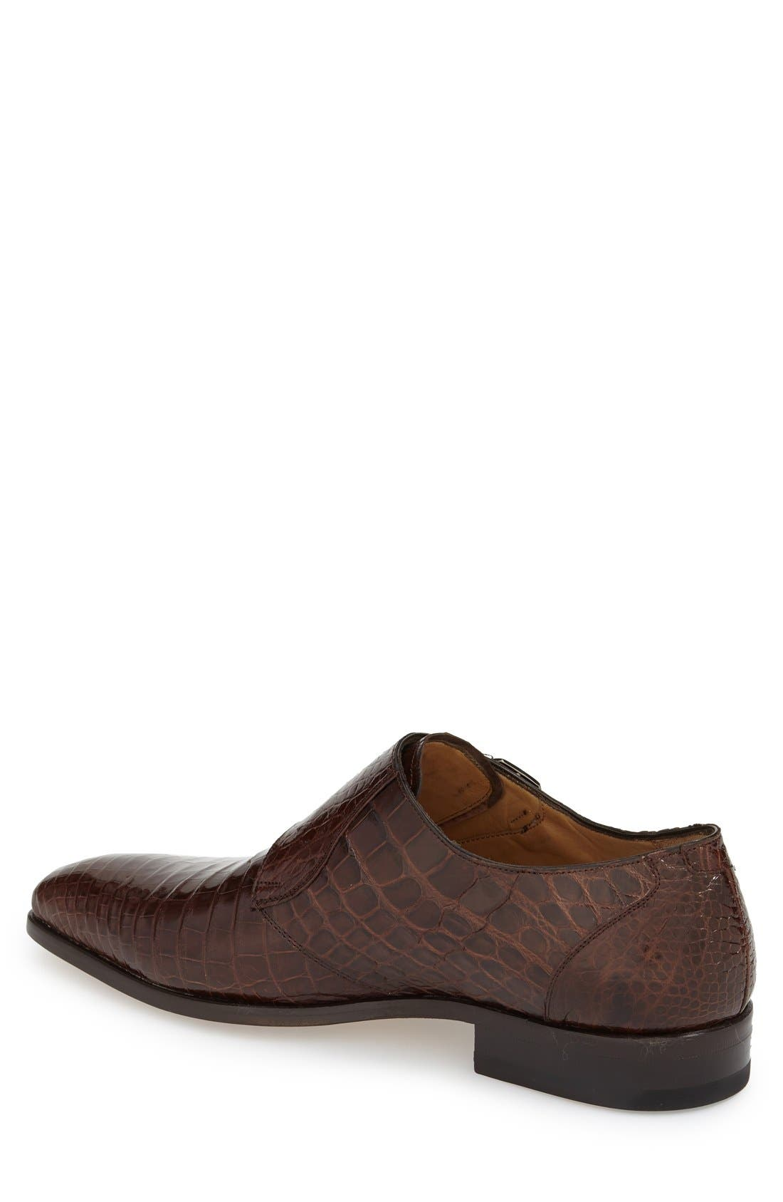 'Agra' Double Monk Strap Shoe,                             Alternate thumbnail 4, color,