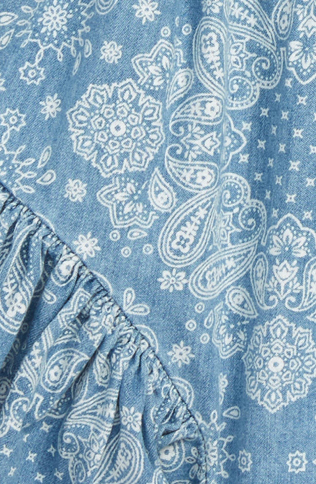 Bandana Print Ruffle Shorts,                             Alternate thumbnail 2, color,                             450