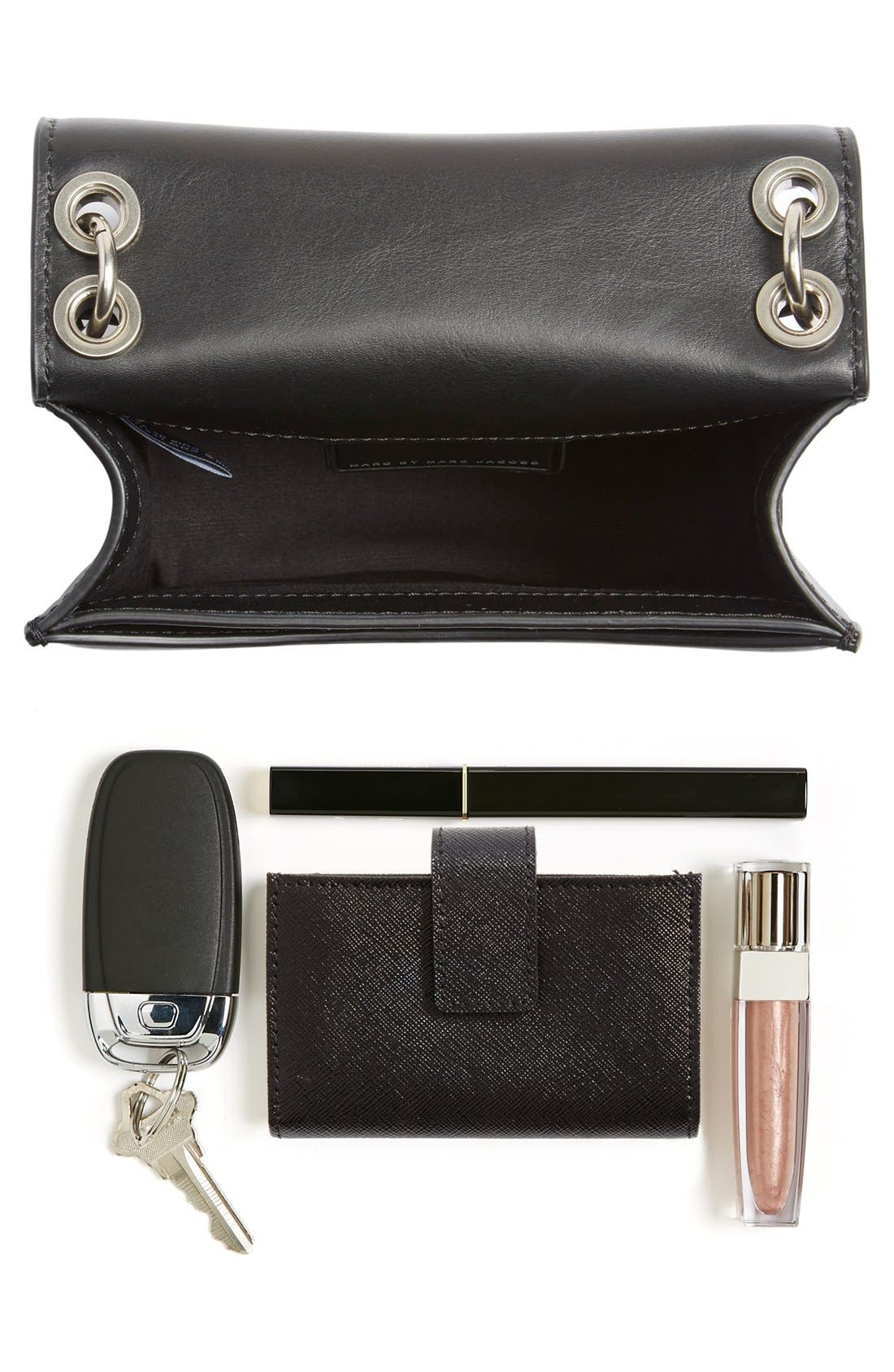 MARC JACOBS,                             MARC BY MARC JACOBS 'The Box' Crossbody Bag,                             Alternate thumbnail 6, color,                             001
