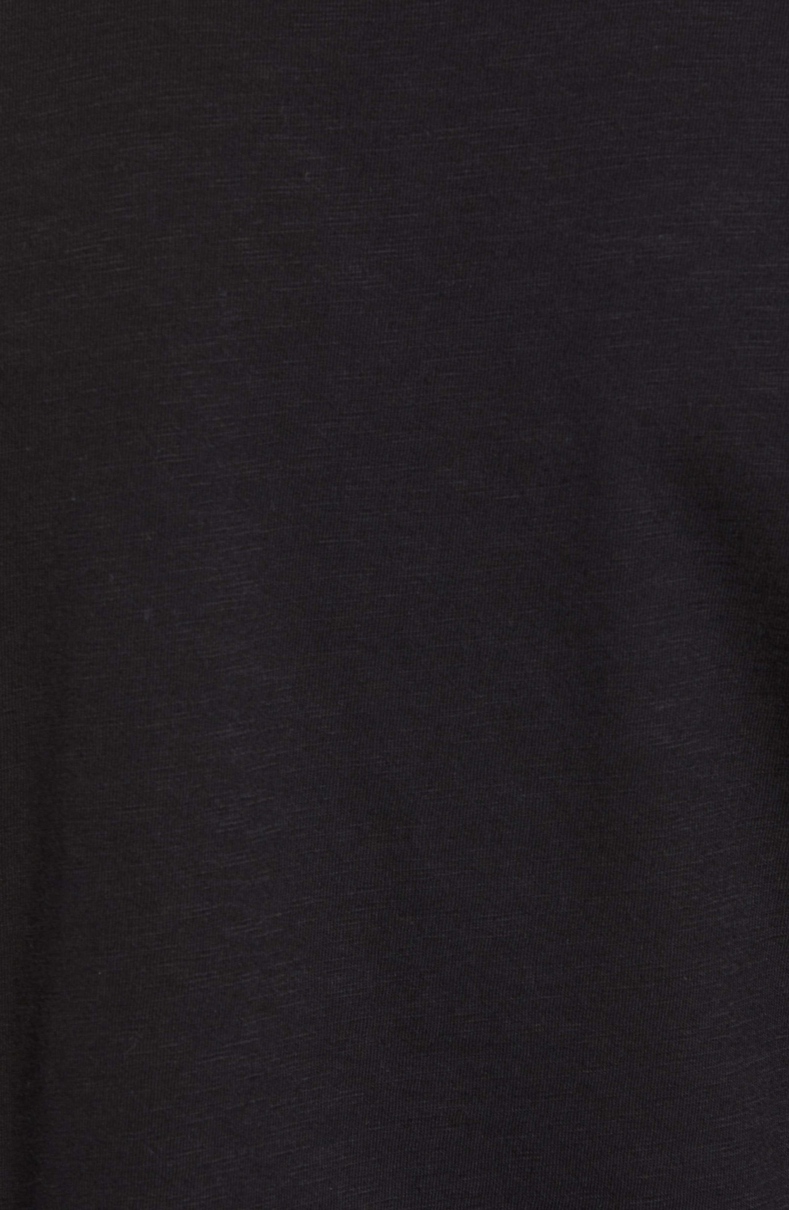 Scallop Hem Slub Crewneck T-Shirt,                             Alternate thumbnail 5, color,                             001