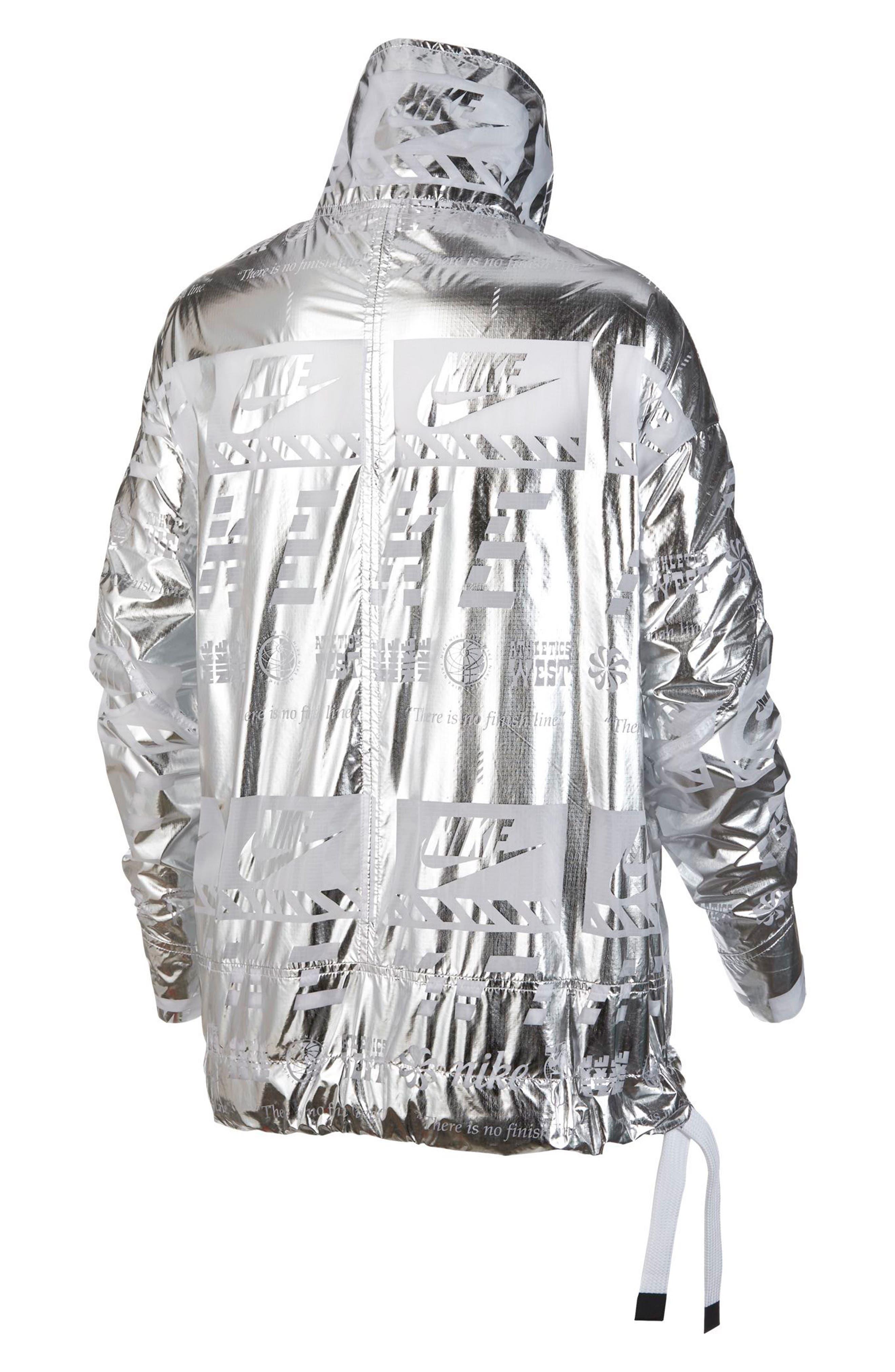 Sportswear Metallic Half Zip Jacket,                             Alternate thumbnail 6, color,