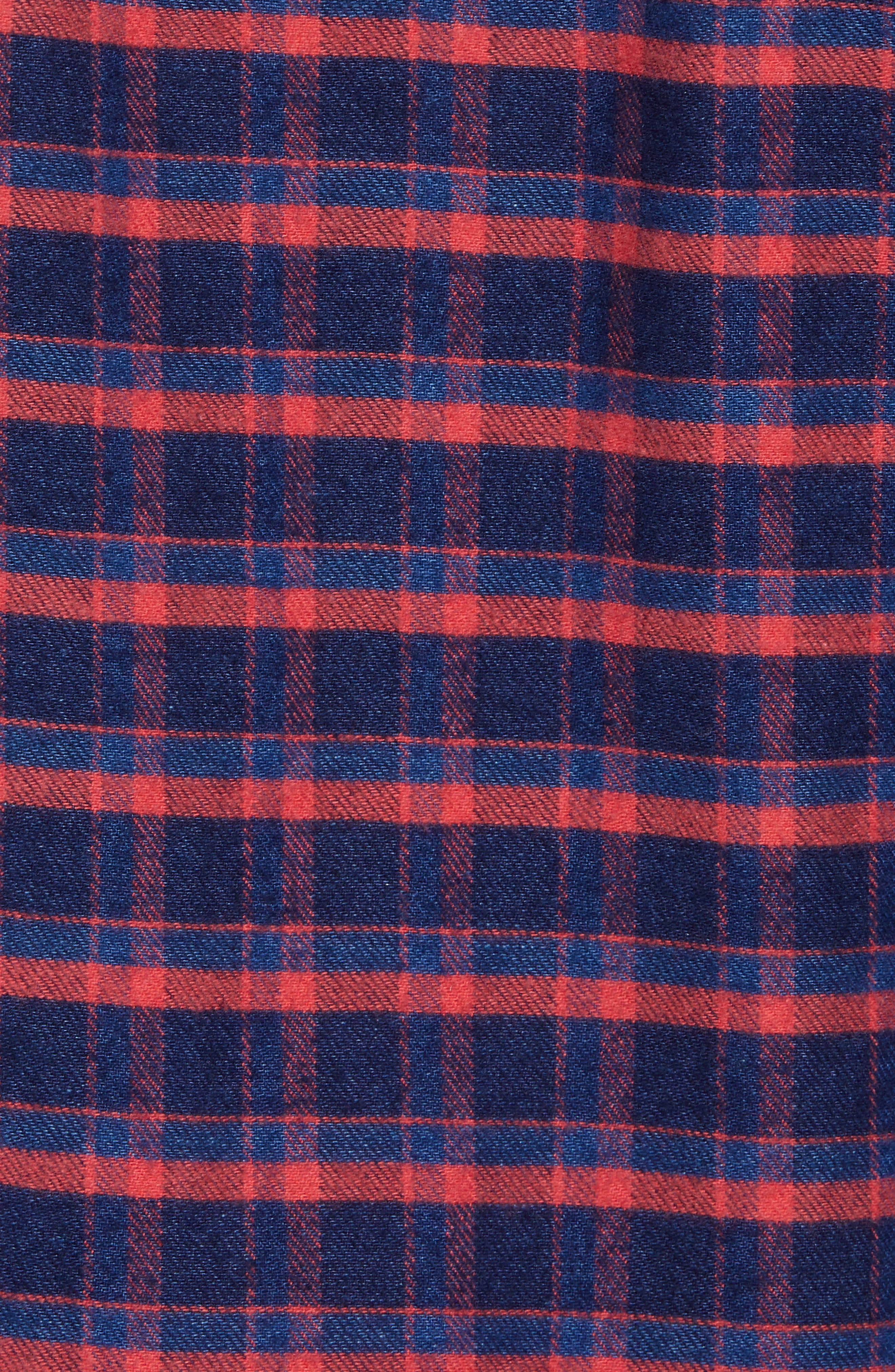 Amsterdams Blauw Check Flannel Sport Shirt,                             Alternate thumbnail 5, color,                             411