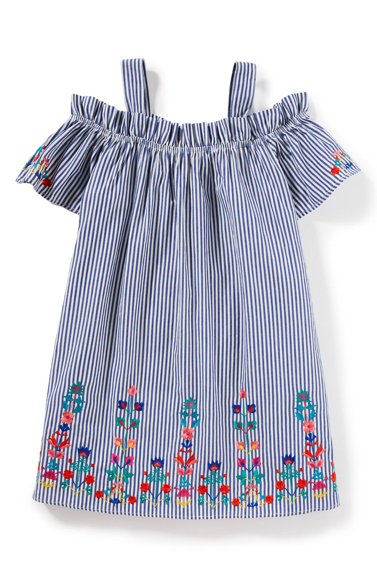 Christina Stripe Dress,                             Main thumbnail 1, color,                             400