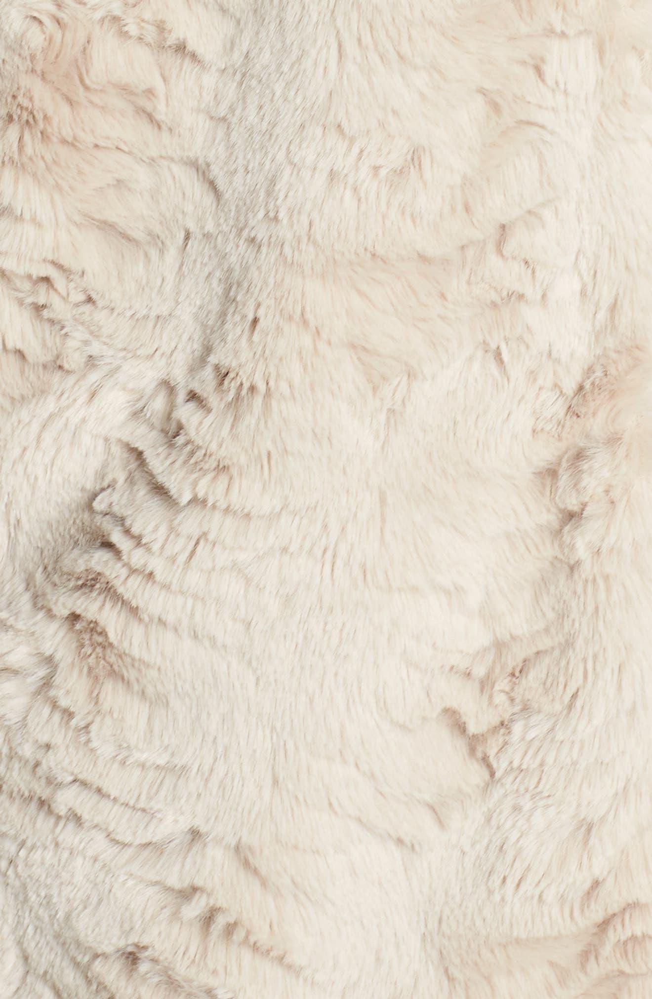Wubby Faux Fur Coat,                             Alternate thumbnail 7, color,                             SAND
