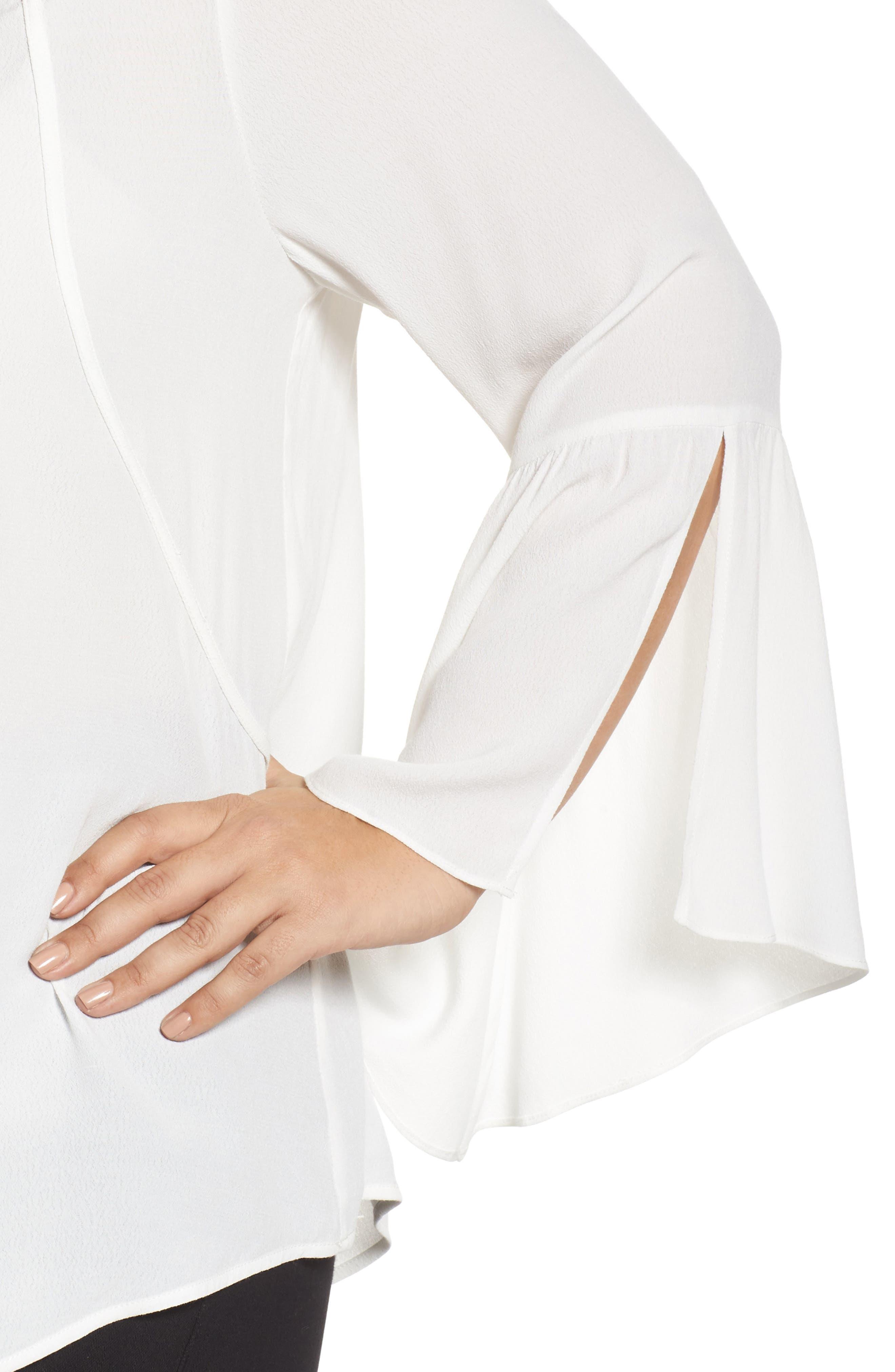 Split Bell Sleeve Top,                             Alternate thumbnail 4, color,                             902