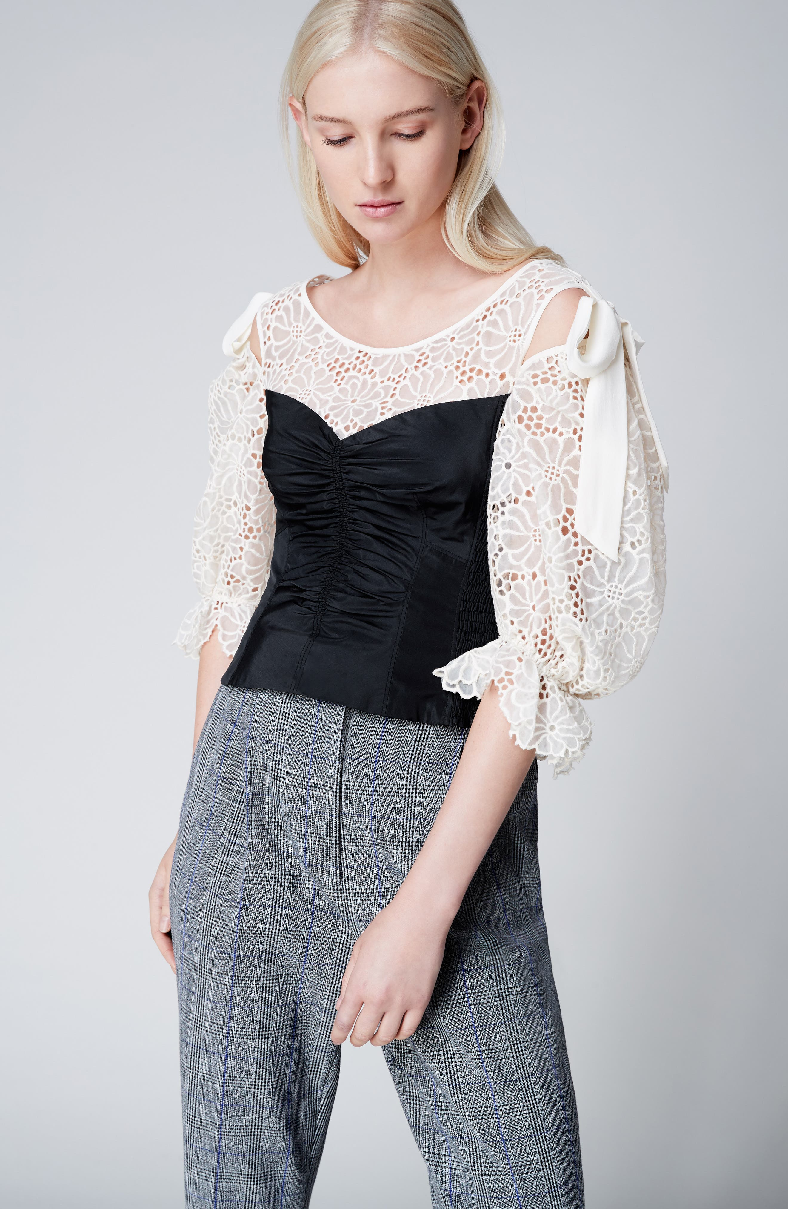 Malorie Embroidered Eyelet Top,                             Alternate thumbnail 7, color,                             114
