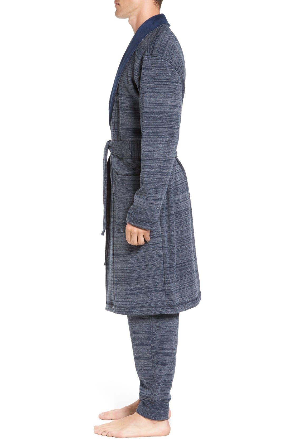 'Robinson' Stretch Cotton Robe,                             Alternate thumbnail 6, color,