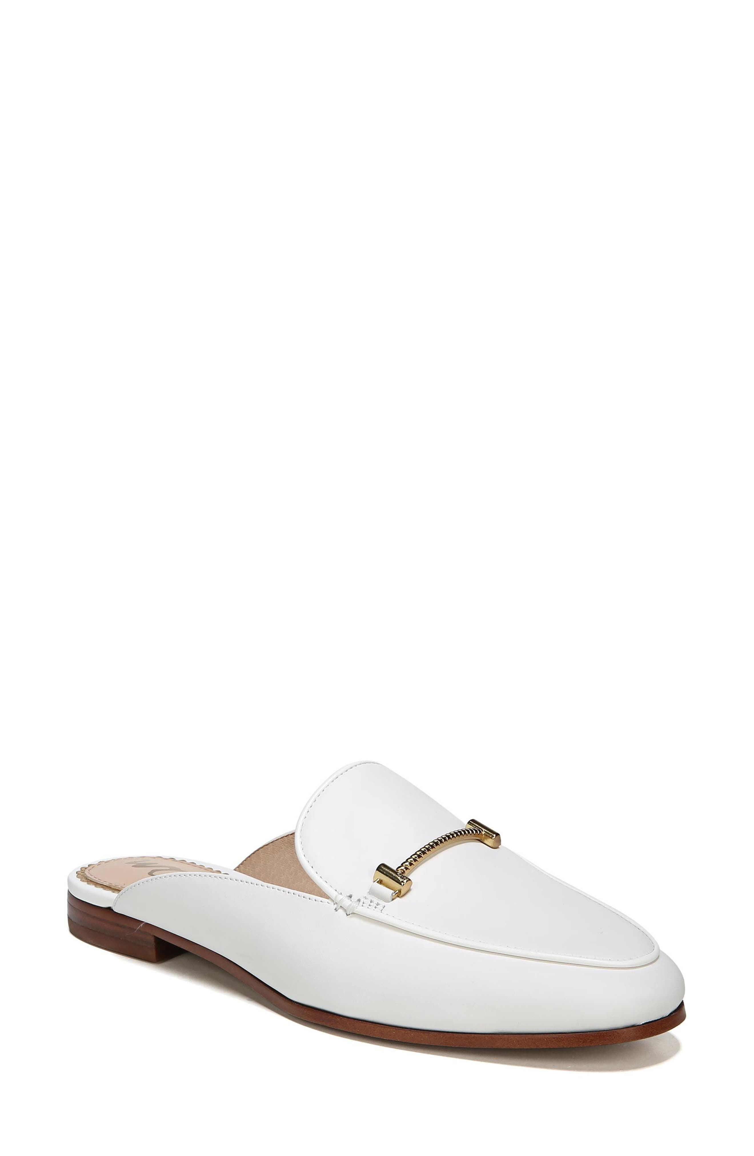 Laurna Mule,                             Alternate thumbnail 9, color,                             BRIGHT WHITE LEATHER