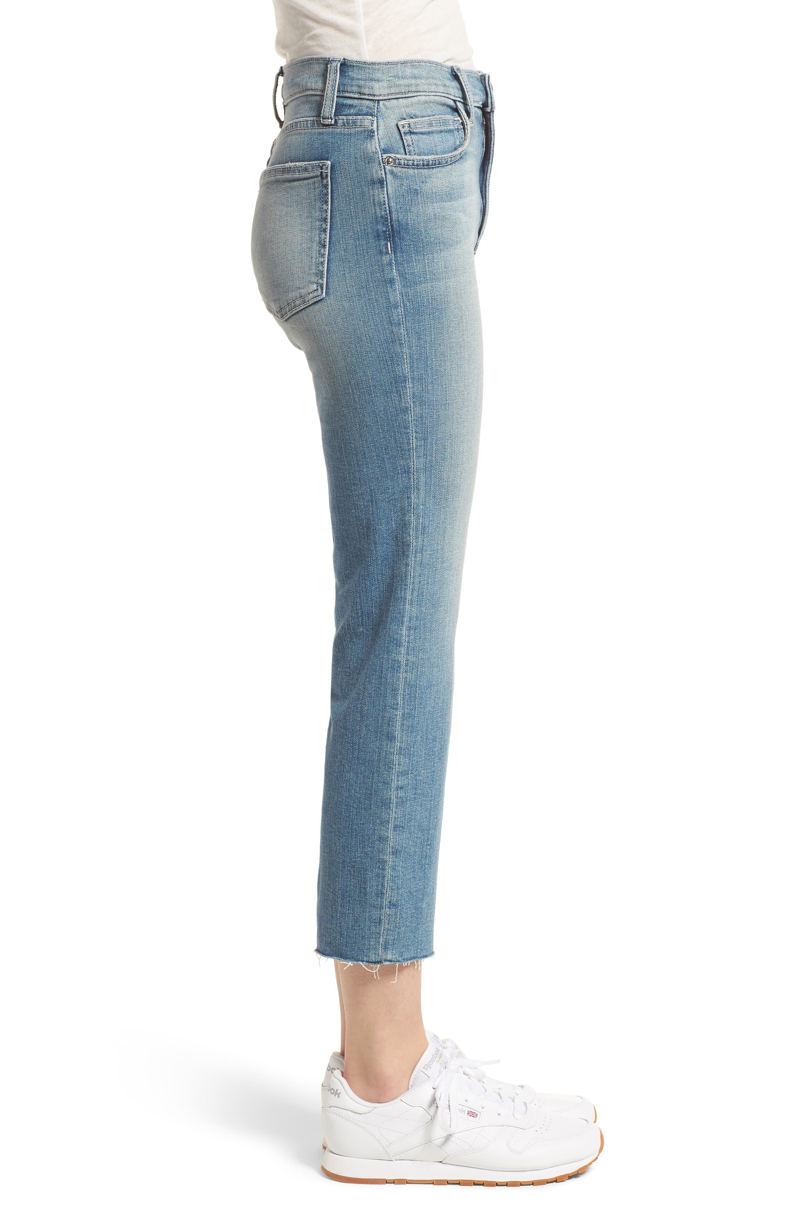 The High Waist Straight Jeans,                             Alternate thumbnail 3, color,                             475