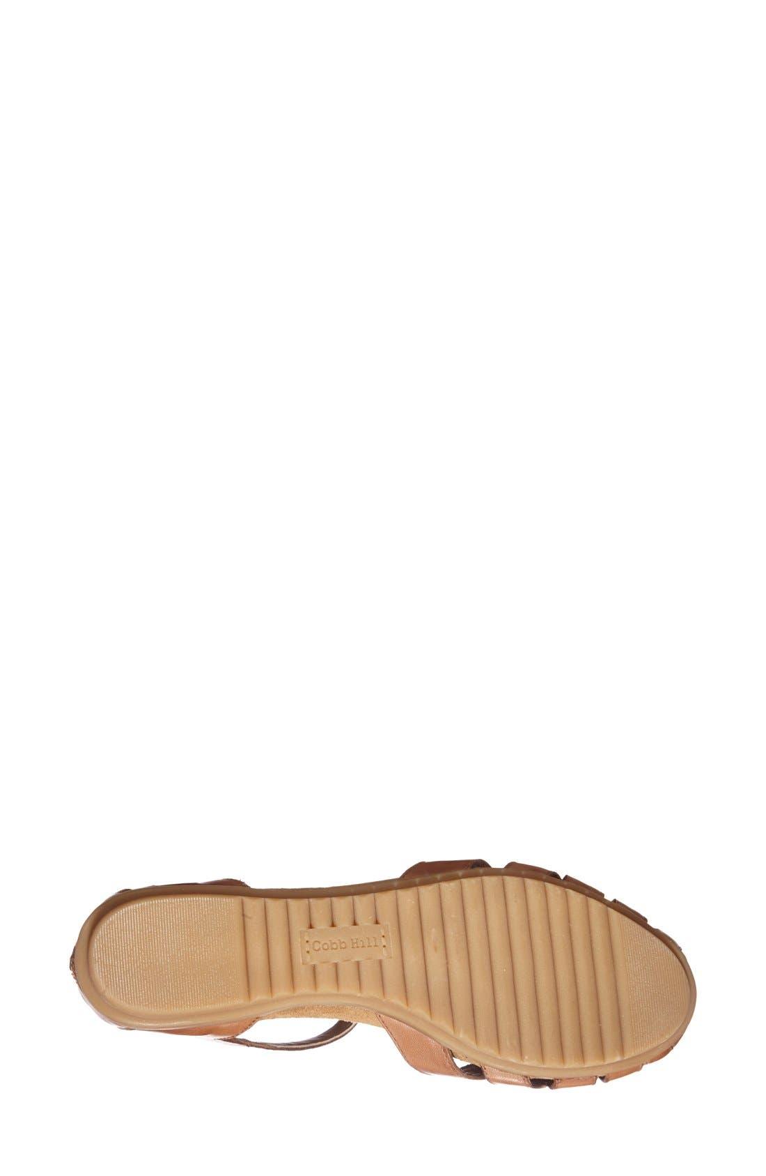 'Ireland' Leather Sandal,                             Alternate thumbnail 3, color,                             TAN