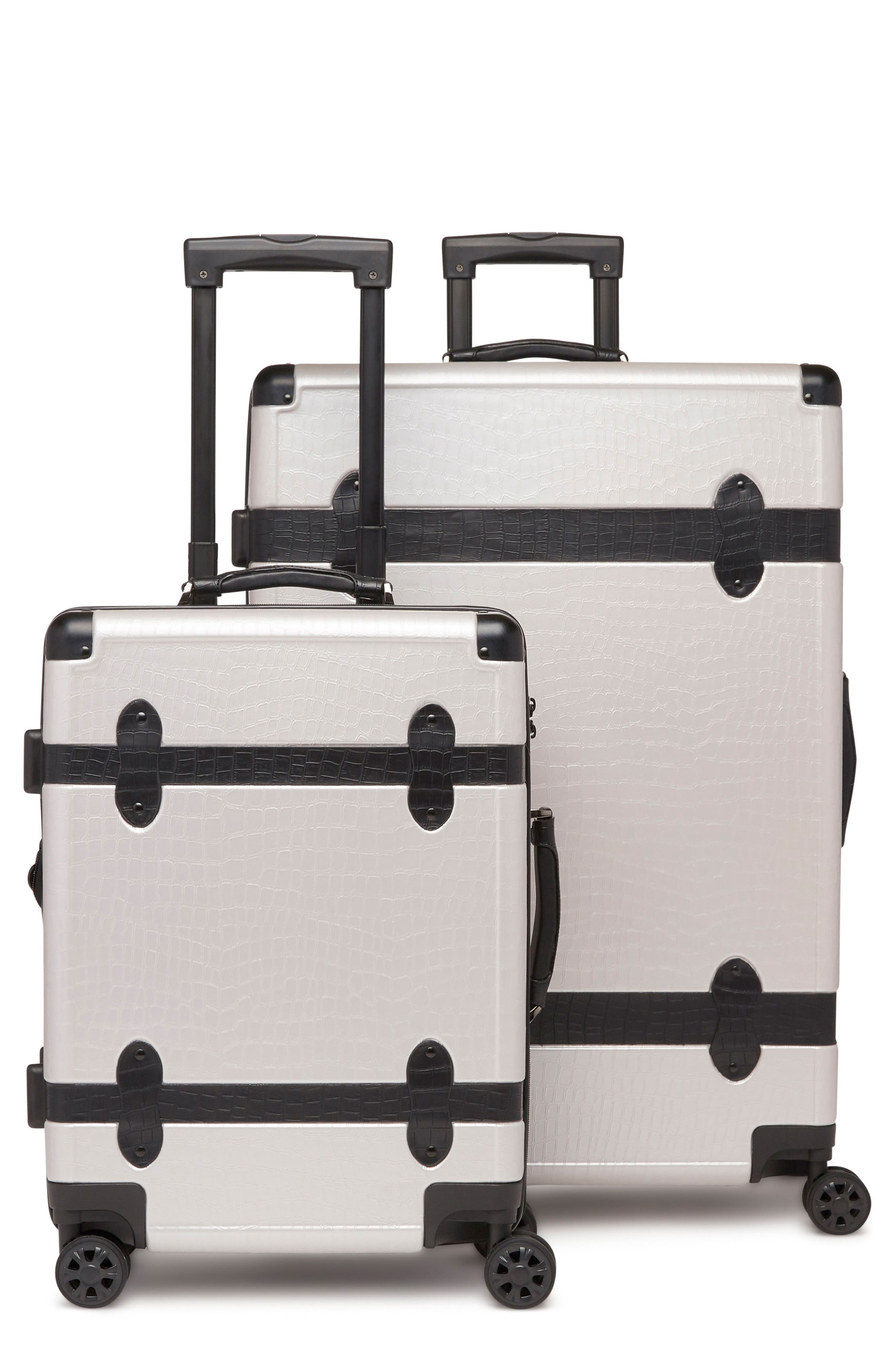 20-Inch & 28-Inch Trunk Rolling Luggage Set,                             Main thumbnail 1, color,                             GRAY