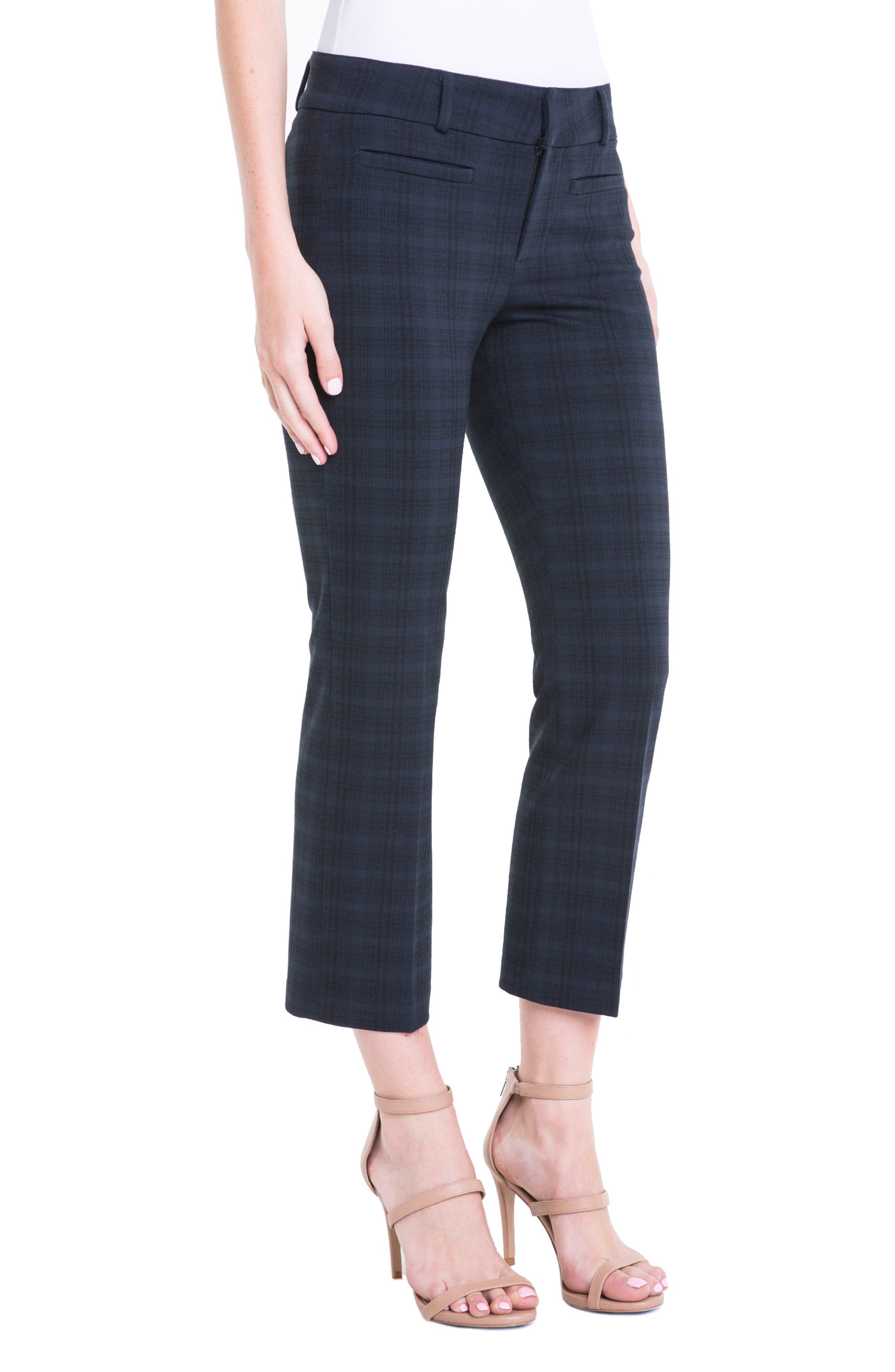 Vera Plaid Crop Trousers,                             Alternate thumbnail 3, color,