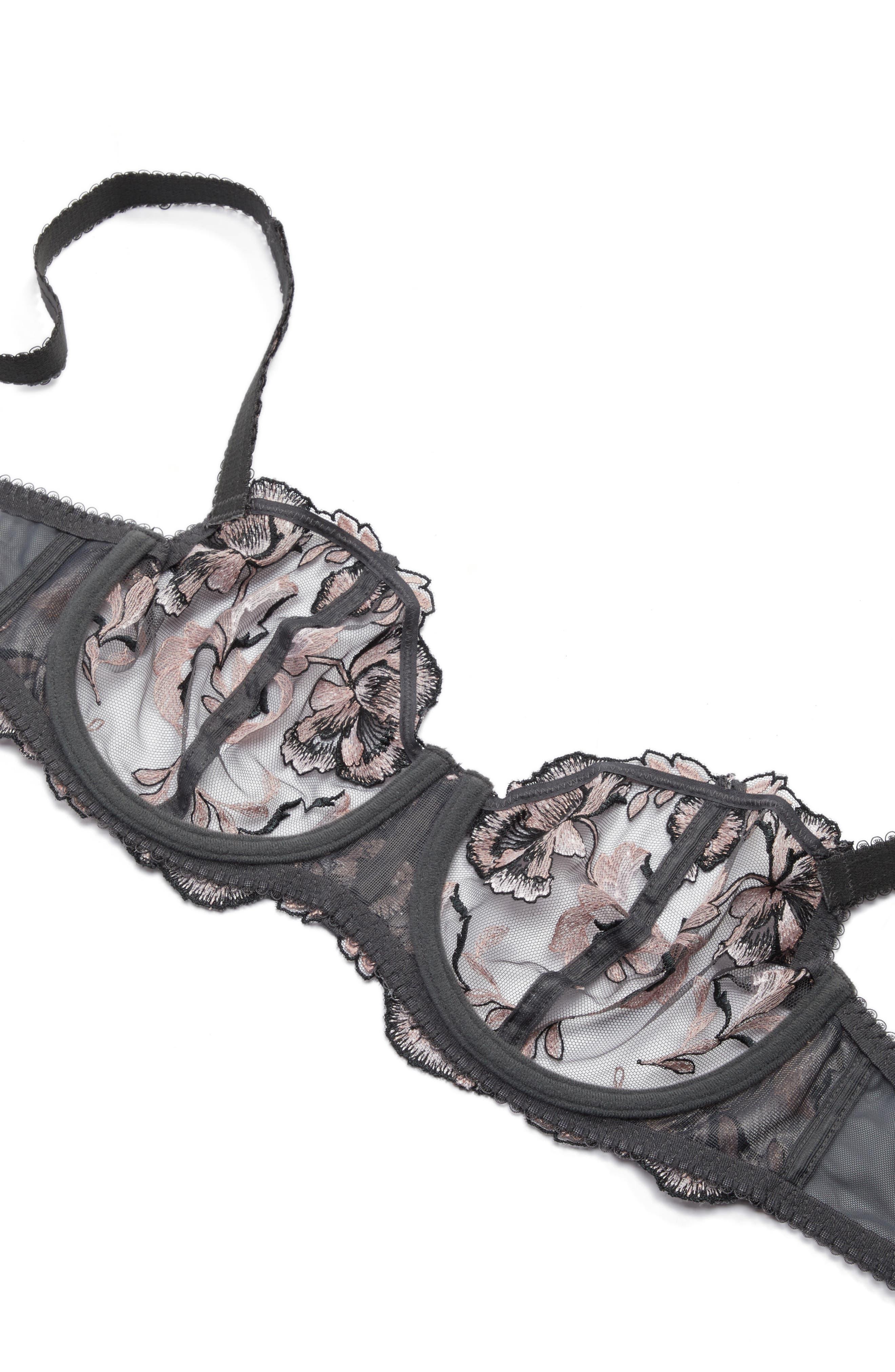 Angelina Vertical Seam Underwire Bra,                             Alternate thumbnail 5, color,                             SMOKY ROSE