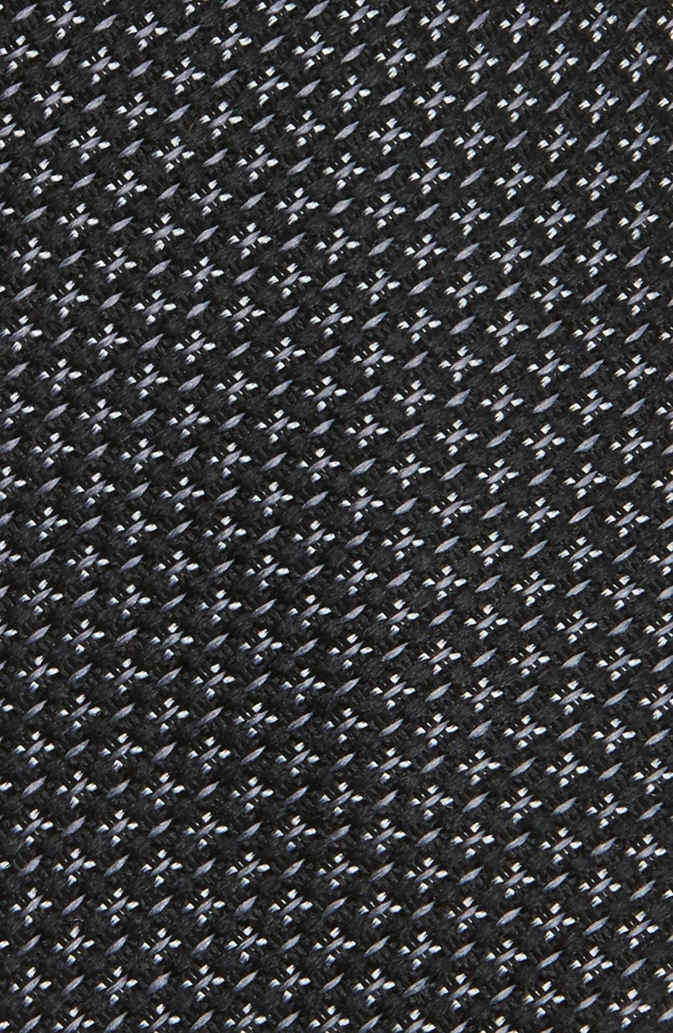 Knitex Solid Silk Tie,                             Alternate thumbnail 2, color,                             001