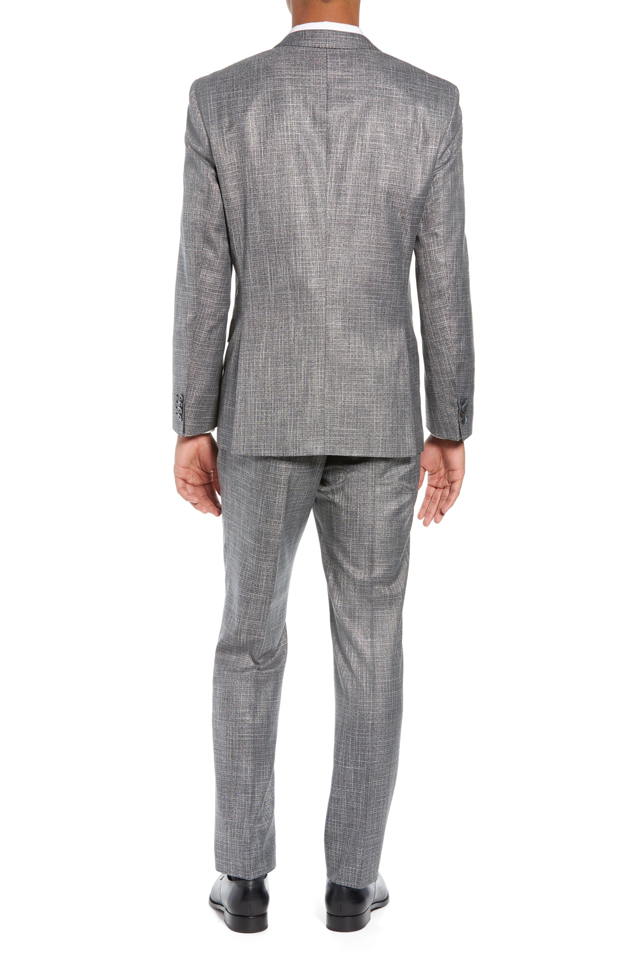 Hutson/Gander Trim Fit Solid Wool Blend Suit,                             Alternate thumbnail 2, color,                             MEDIUM GREY