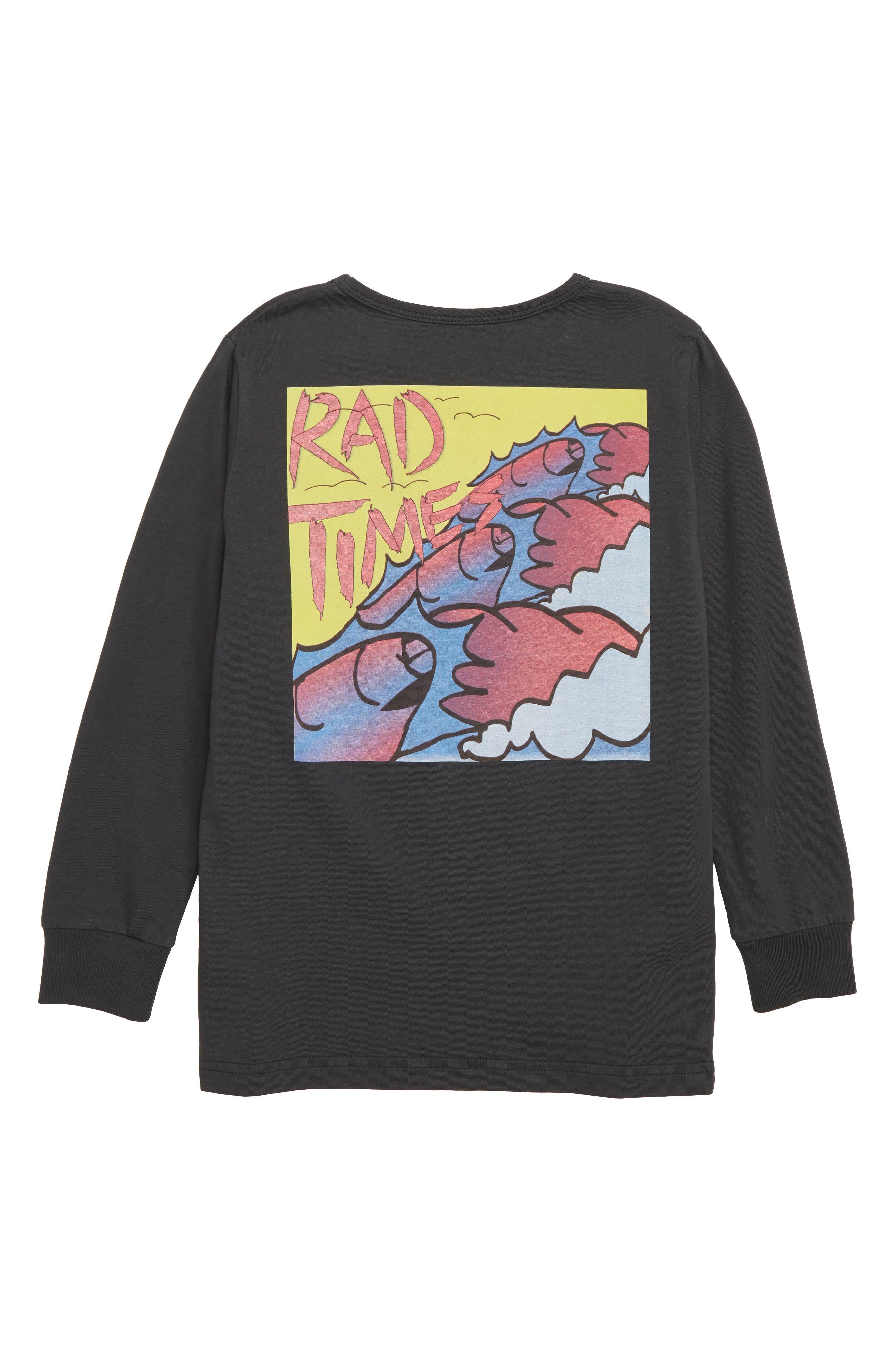Rad Times T-Shirt,                             Alternate thumbnail 2, color,                             SOFT BLACK