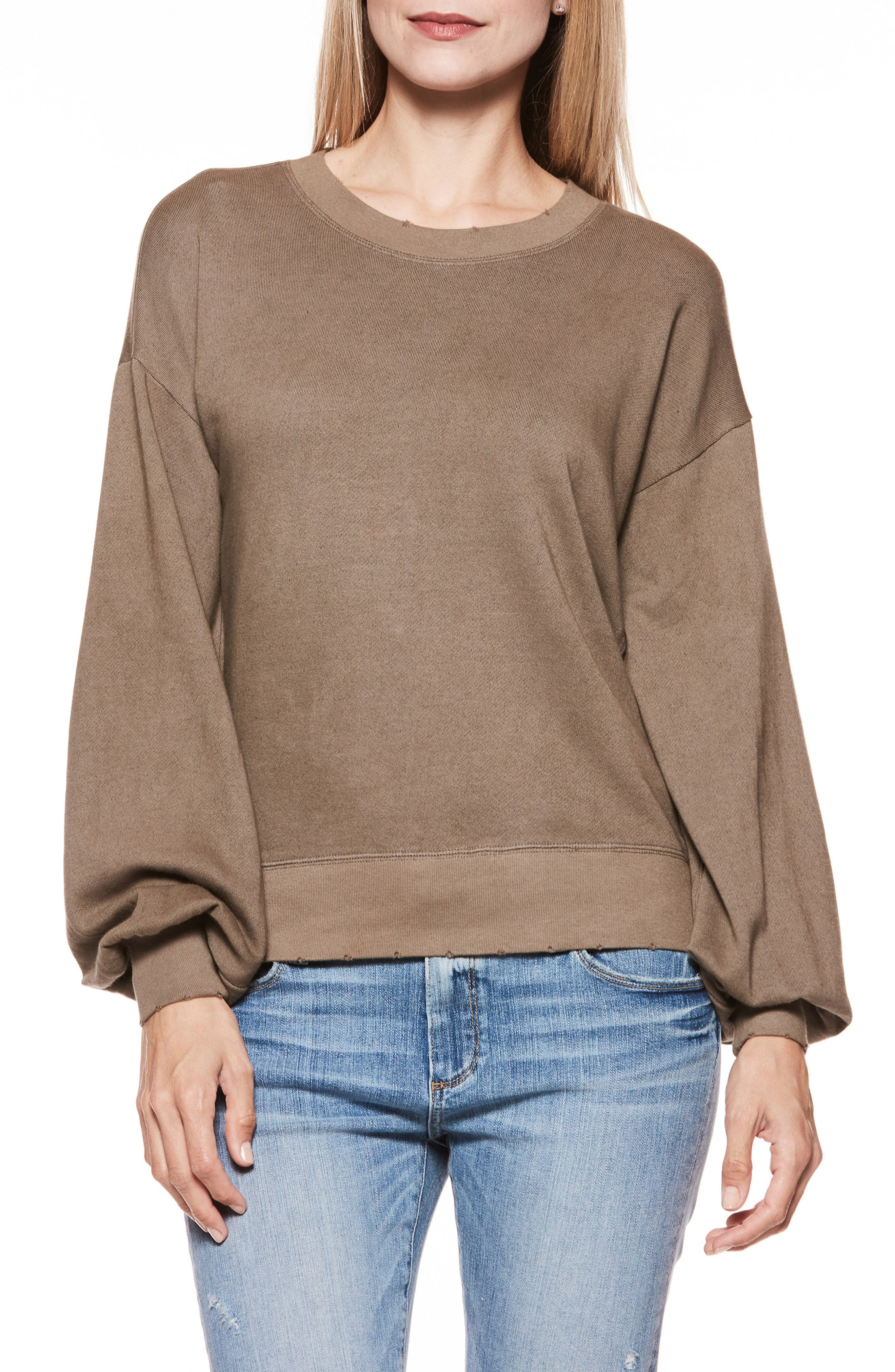 Cortlynn Sweatshirt,                             Main thumbnail 1, color,                             TANNED OLIVE