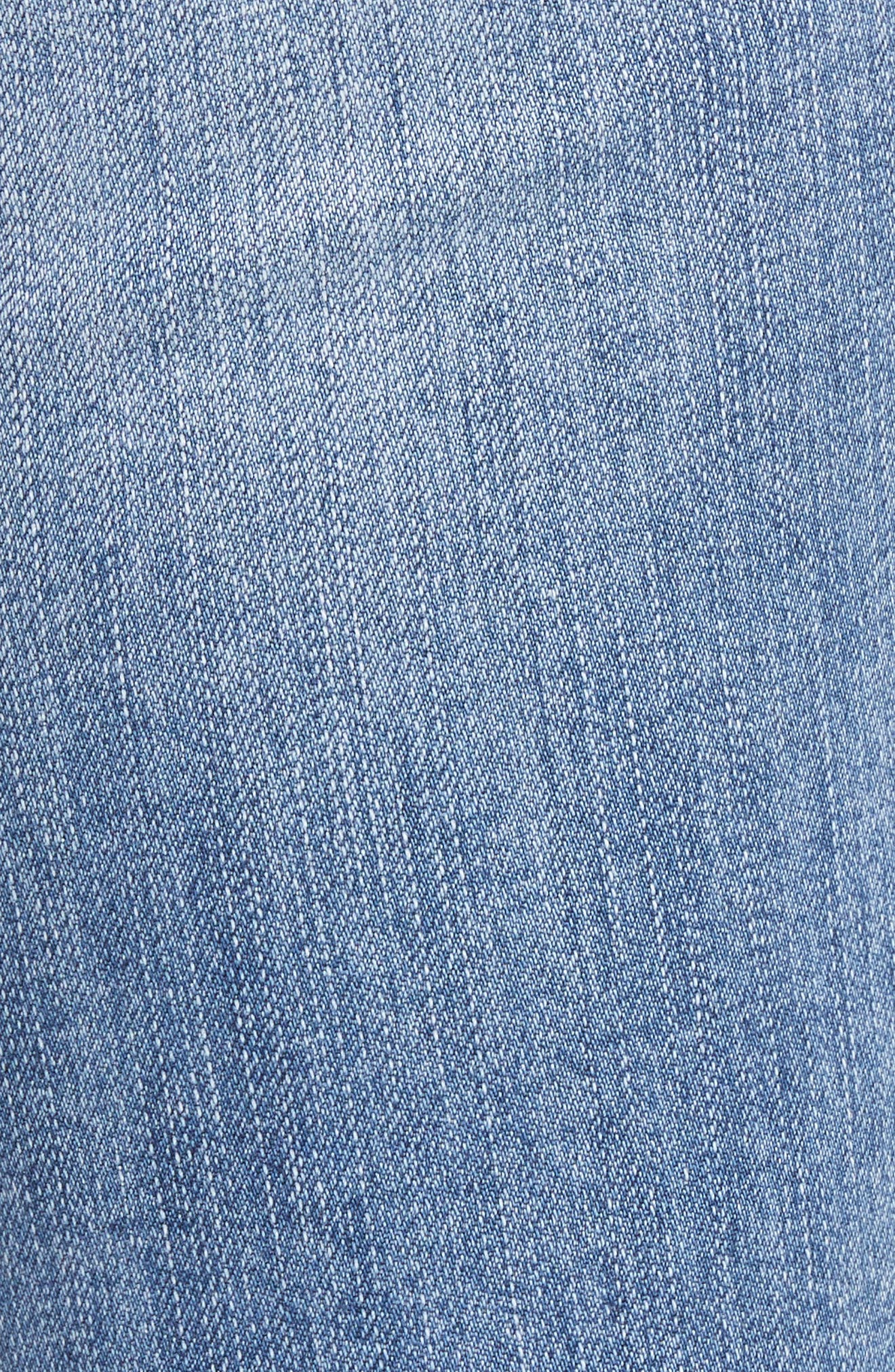 Reese Pearl Detail Raw Edge Jeans,                             Alternate thumbnail 5, color,                             439