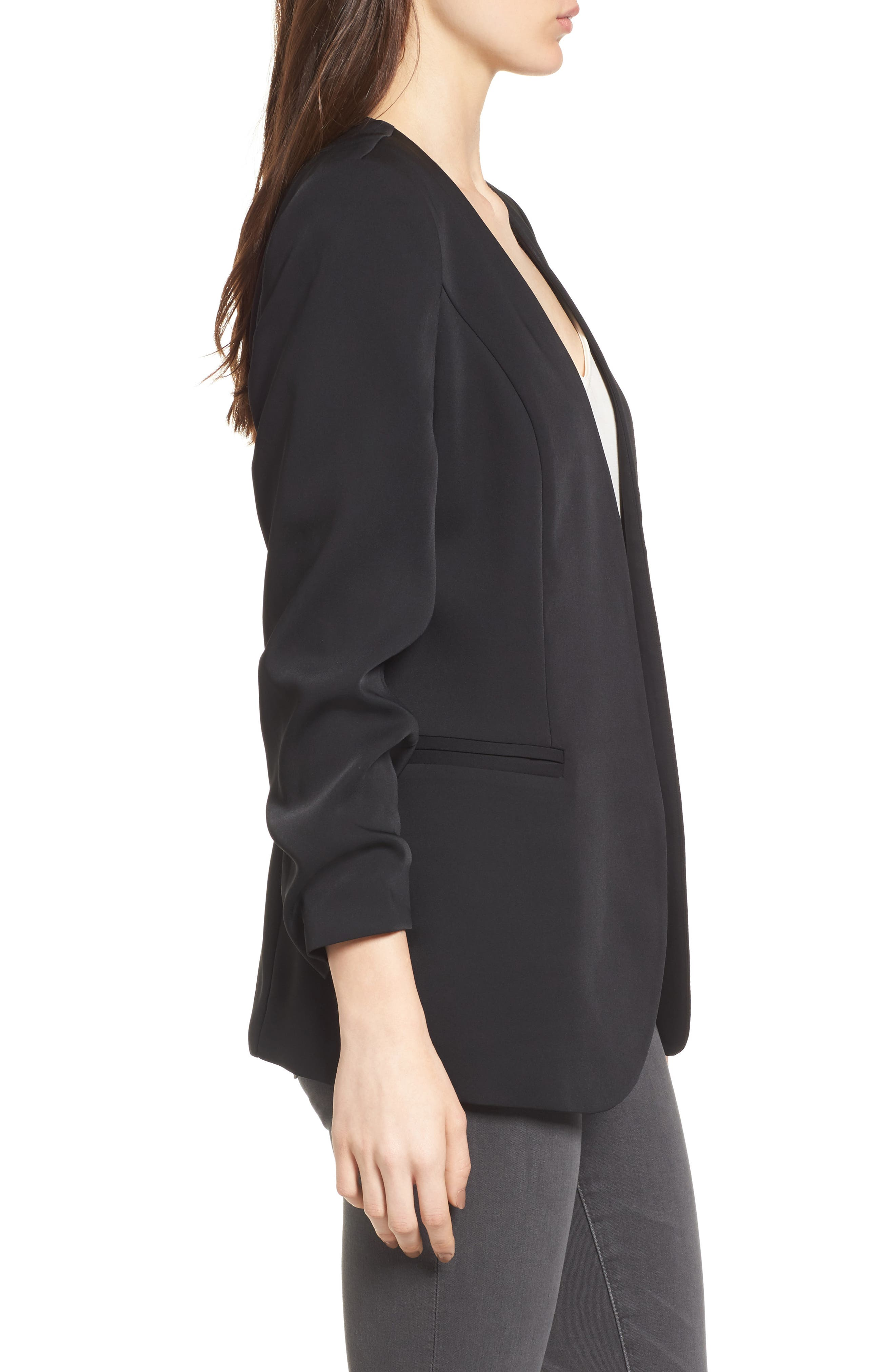 Ruched Sleeve Blazer,                             Alternate thumbnail 7, color,