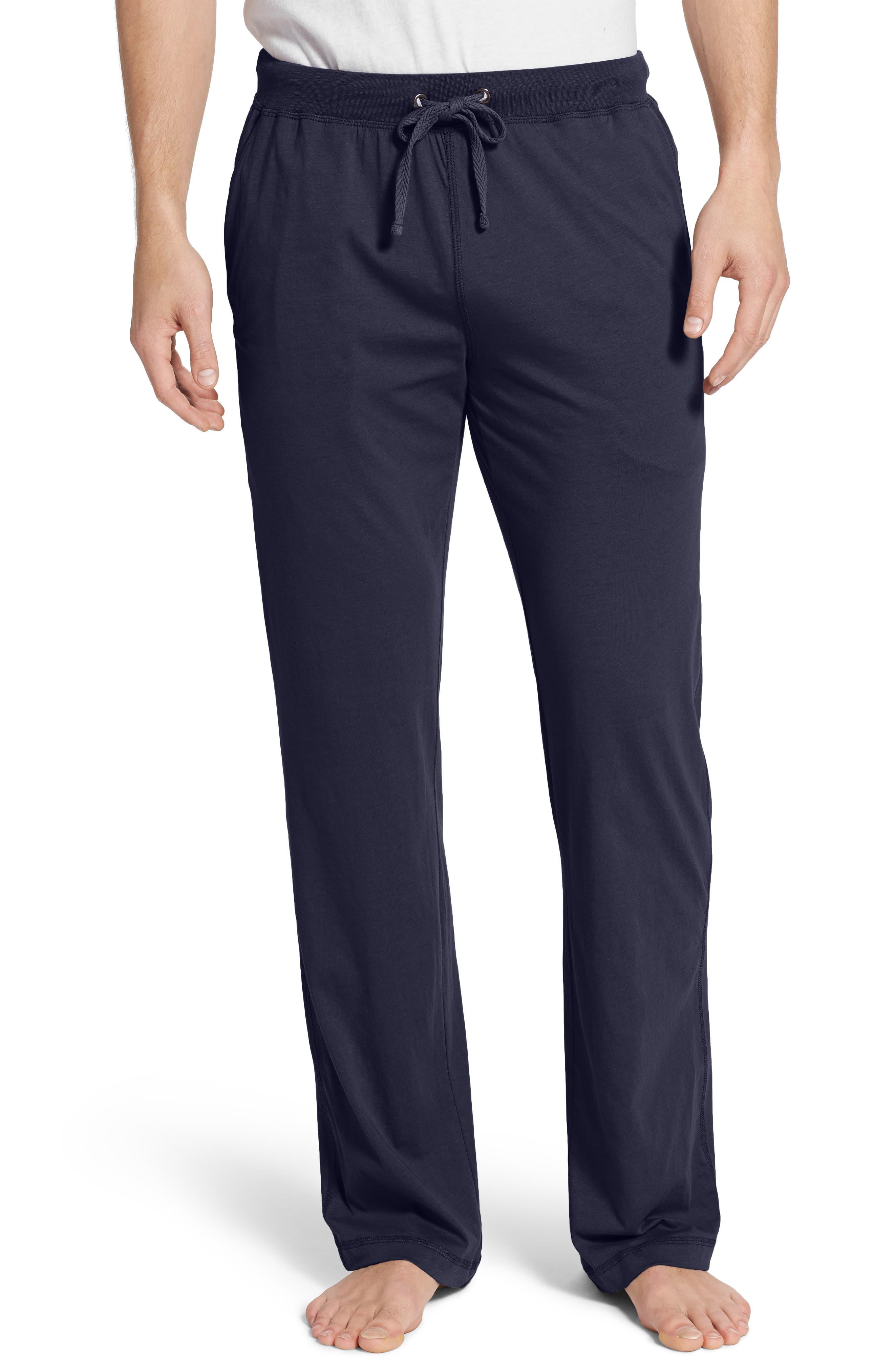 Peruvian Pima Lightweight Cotton Lounge Pants,                             Main thumbnail 1, color,                             NAVY