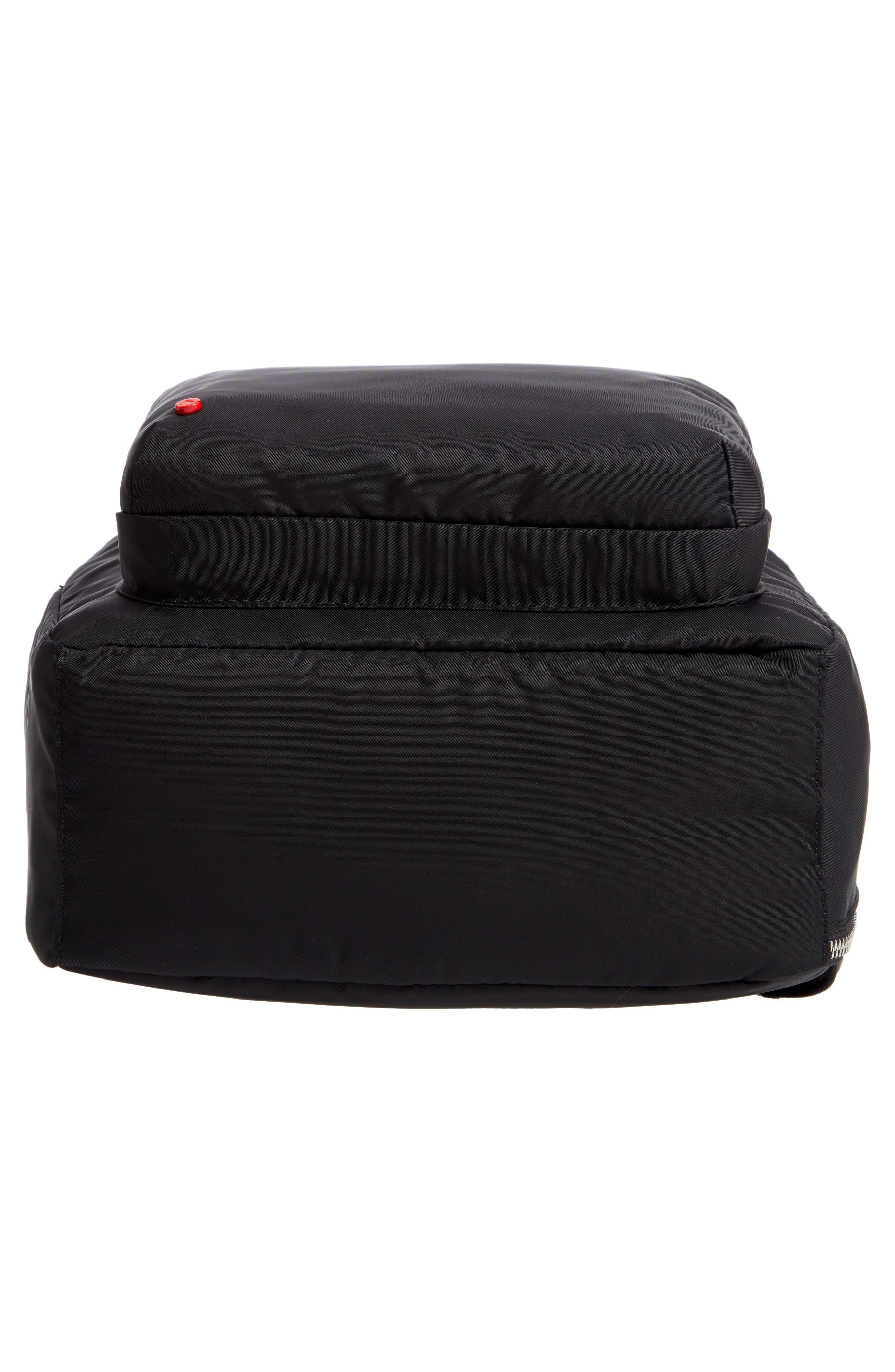 The Heights Mini Lorimer Nylon Backpack,                             Alternate thumbnail 6, color,                             BLACK