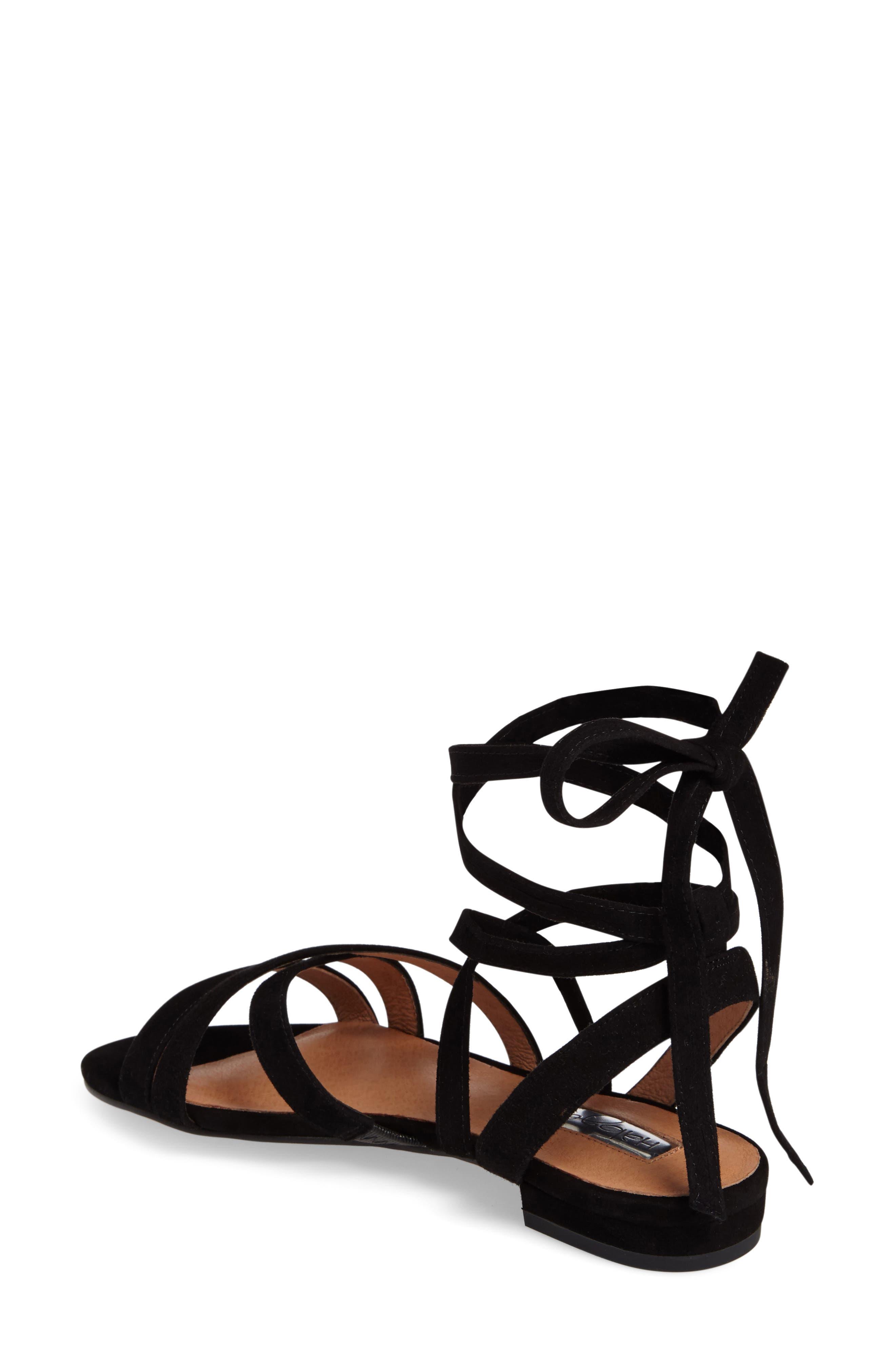 Frances Ankle Wrap Sandal,                             Alternate thumbnail 2, color,                             001