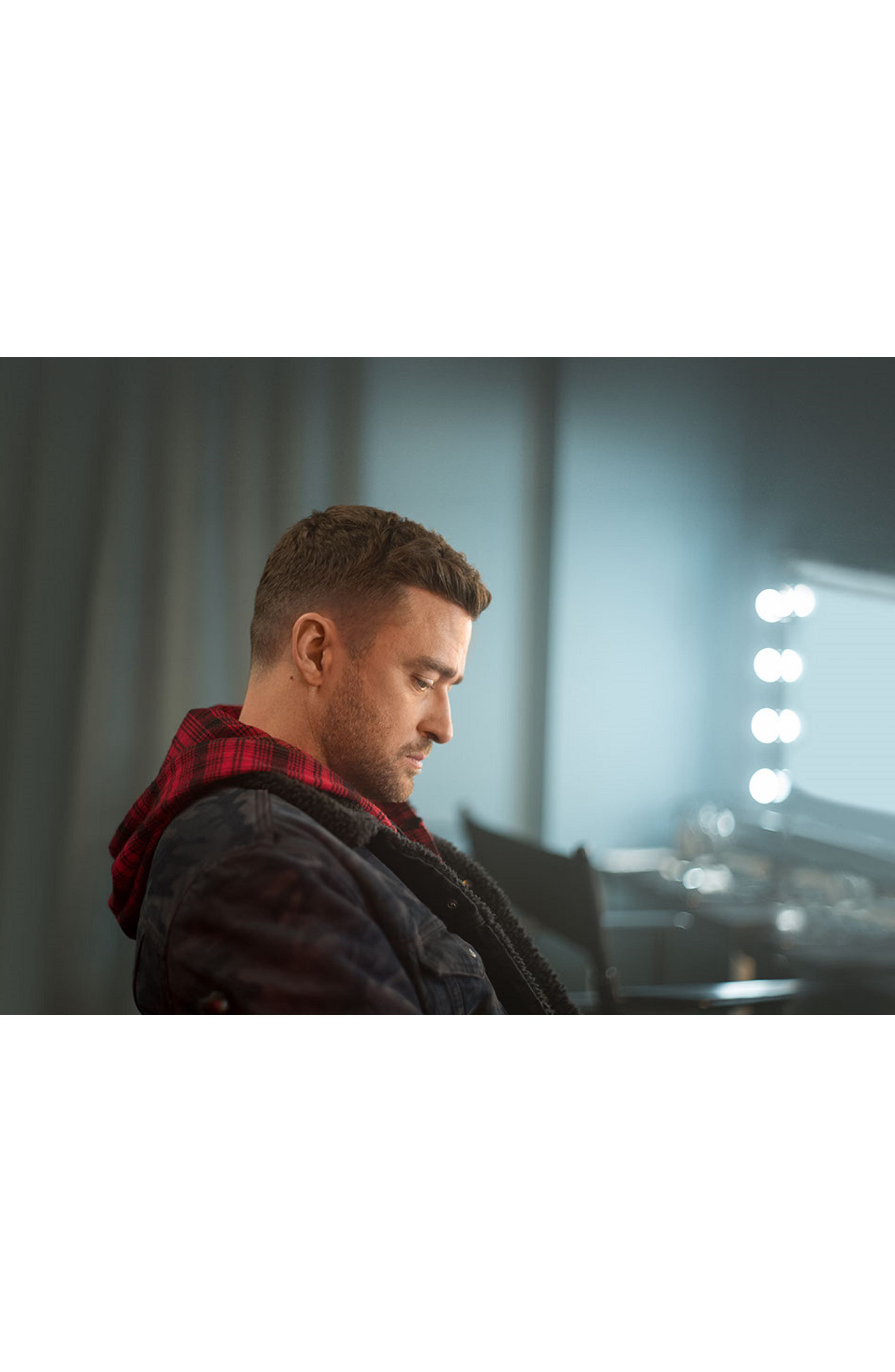 x Justin Timberlake Hooded Flannel Worker Shirt,                             Alternate thumbnail 12, color,                             SERVAL CRIMSON