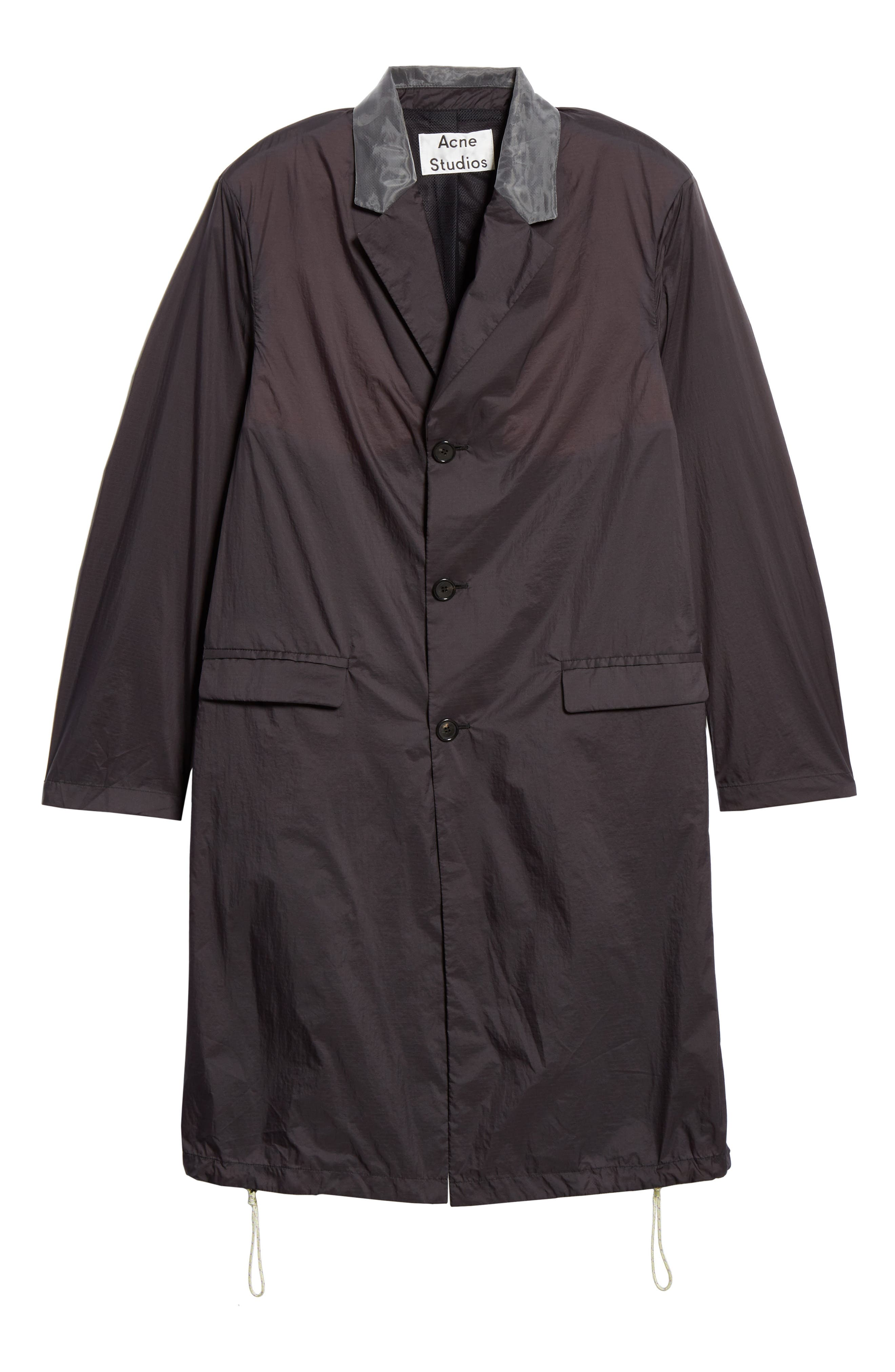 Sagan Long Jacket,                             Alternate thumbnail 5, color,                             BLACK