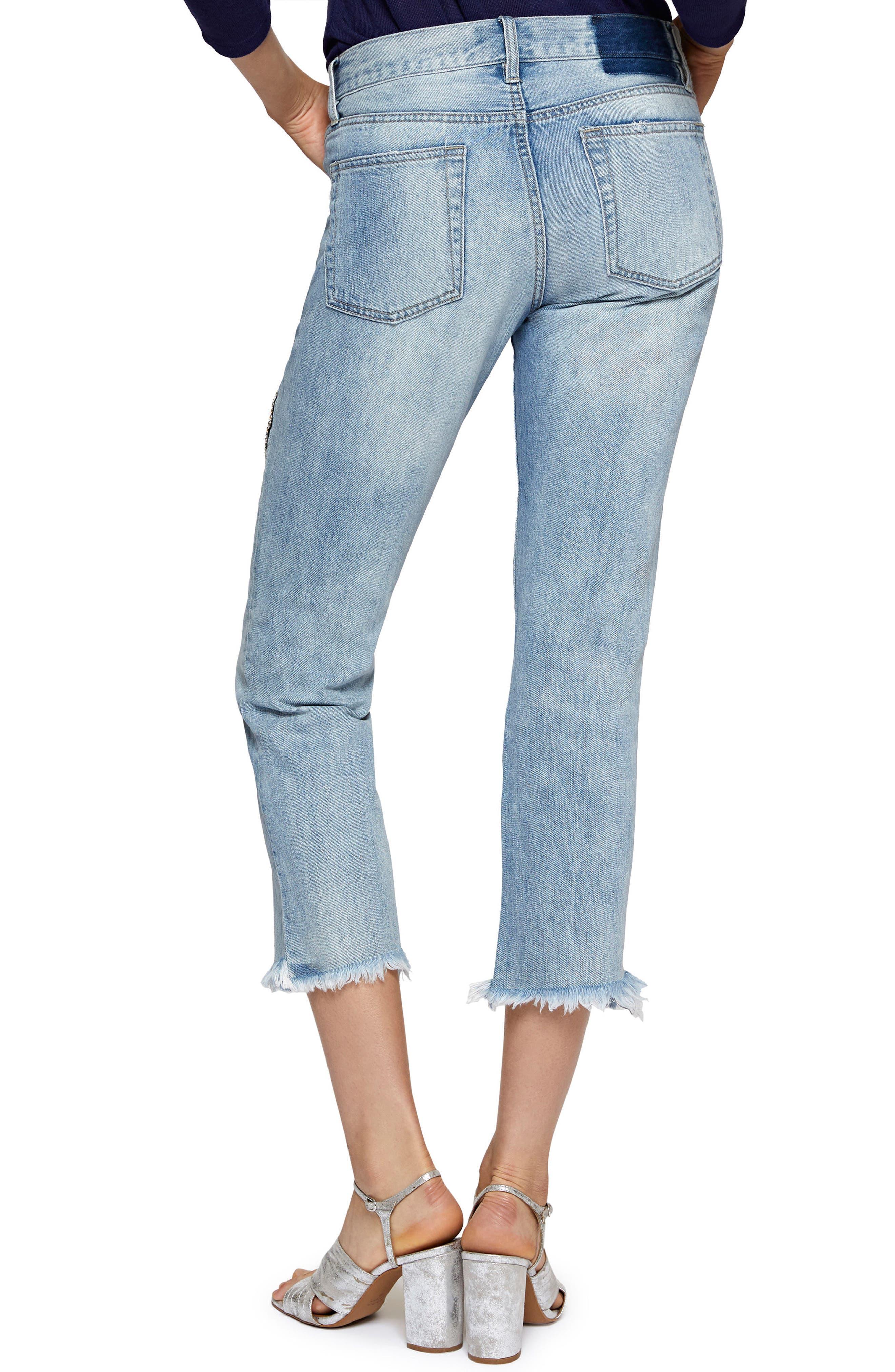 Heartbreaker Patched Slim Boyfriend Jeans,                             Alternate thumbnail 2, color,