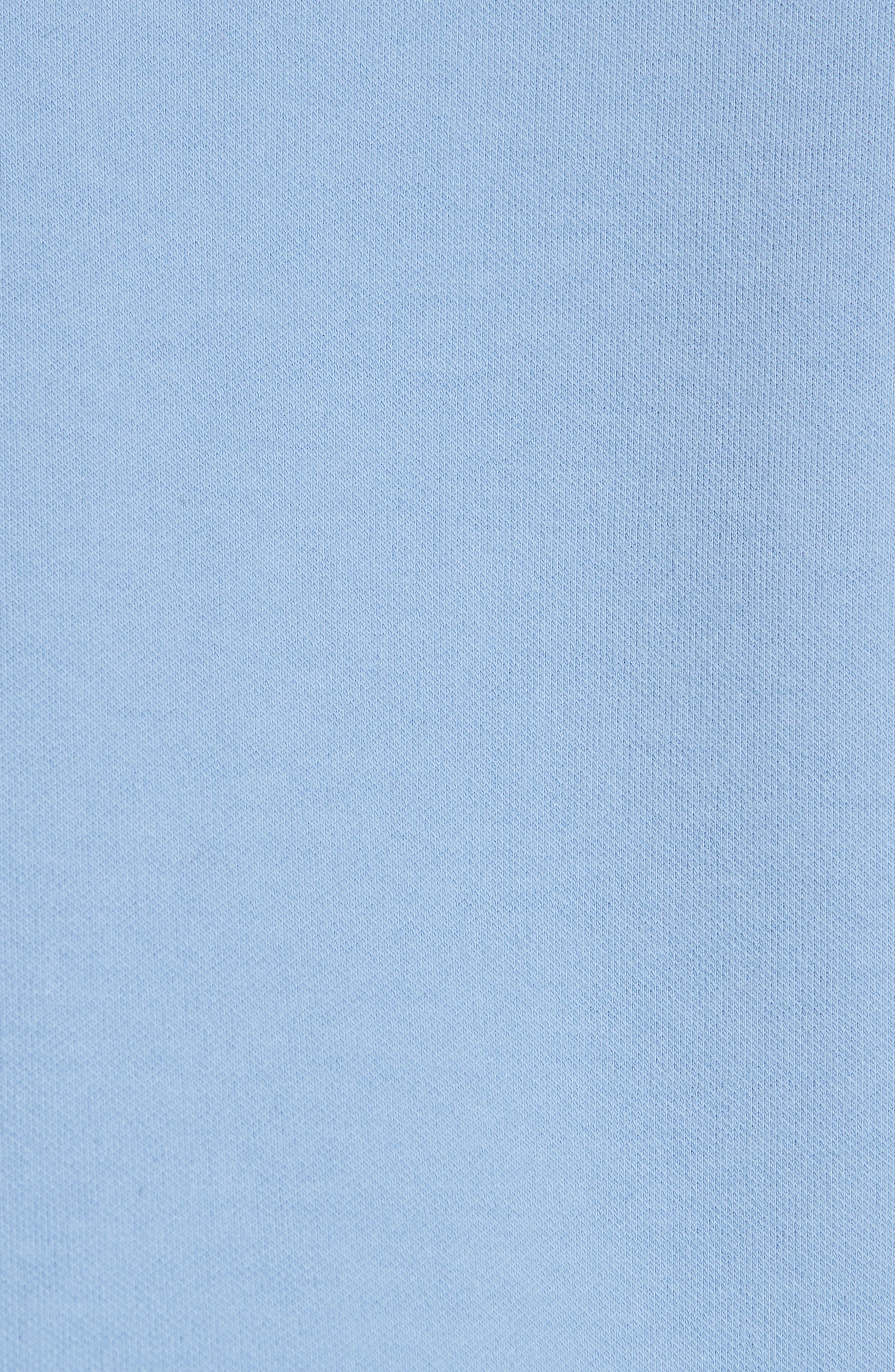 Asymmetrical Mixed Media Sweatshirt,                             Alternate thumbnail 5, color,                             LIGHT BLUE/ WHITE
