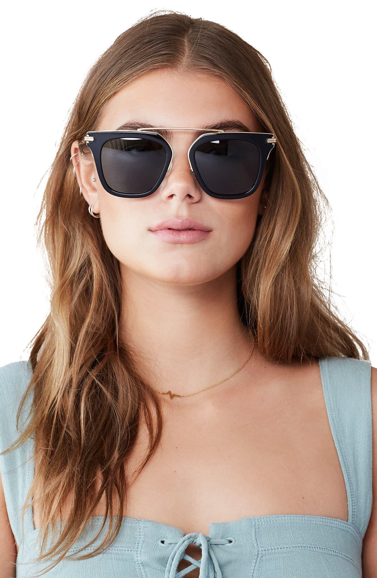 Parker 55mm Sunglasses,                             Alternate thumbnail 4, color,                             001