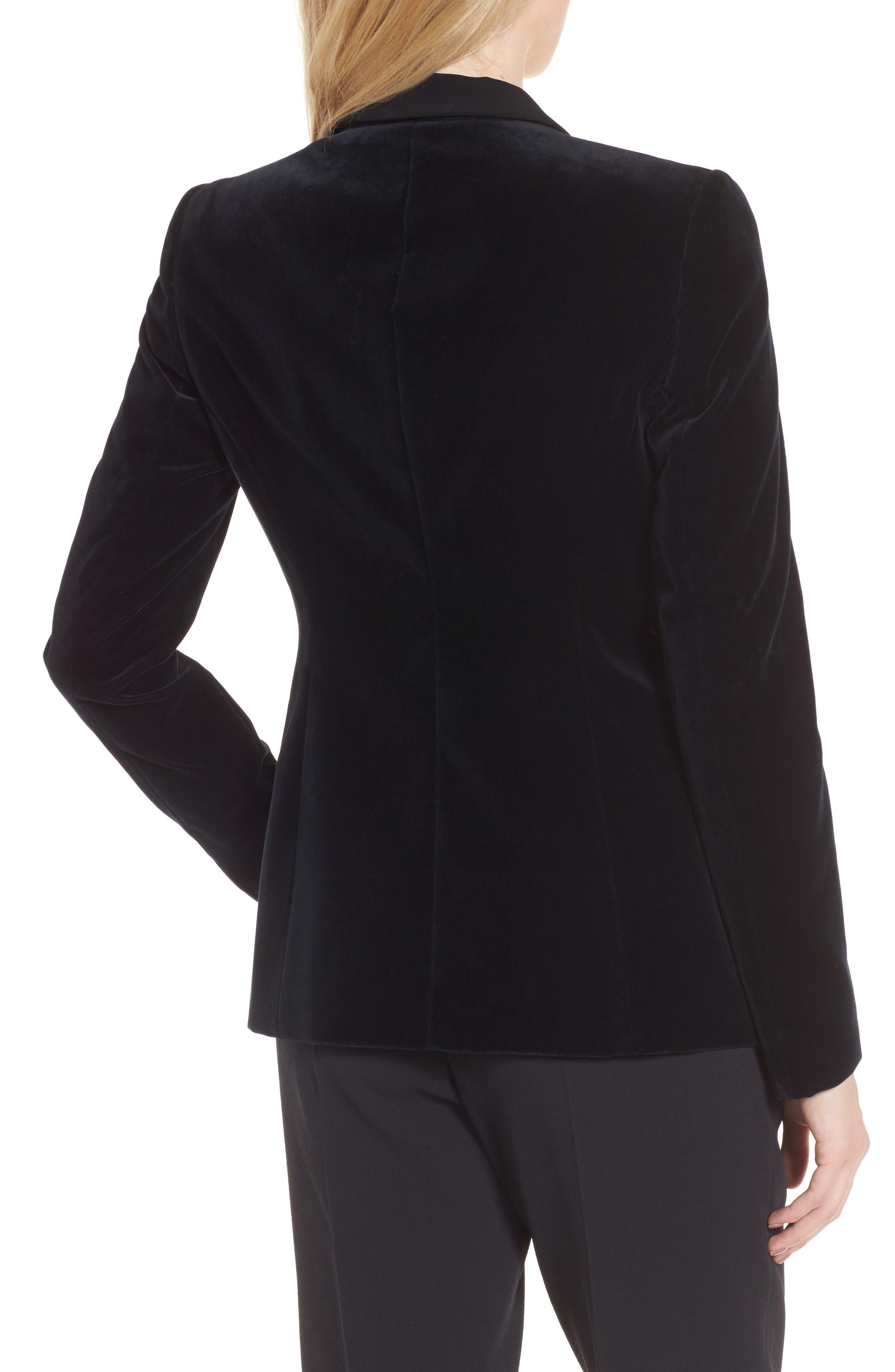 Jeronala Velvet Tuxedo Jacket,                             Alternate thumbnail 2, color,                             480