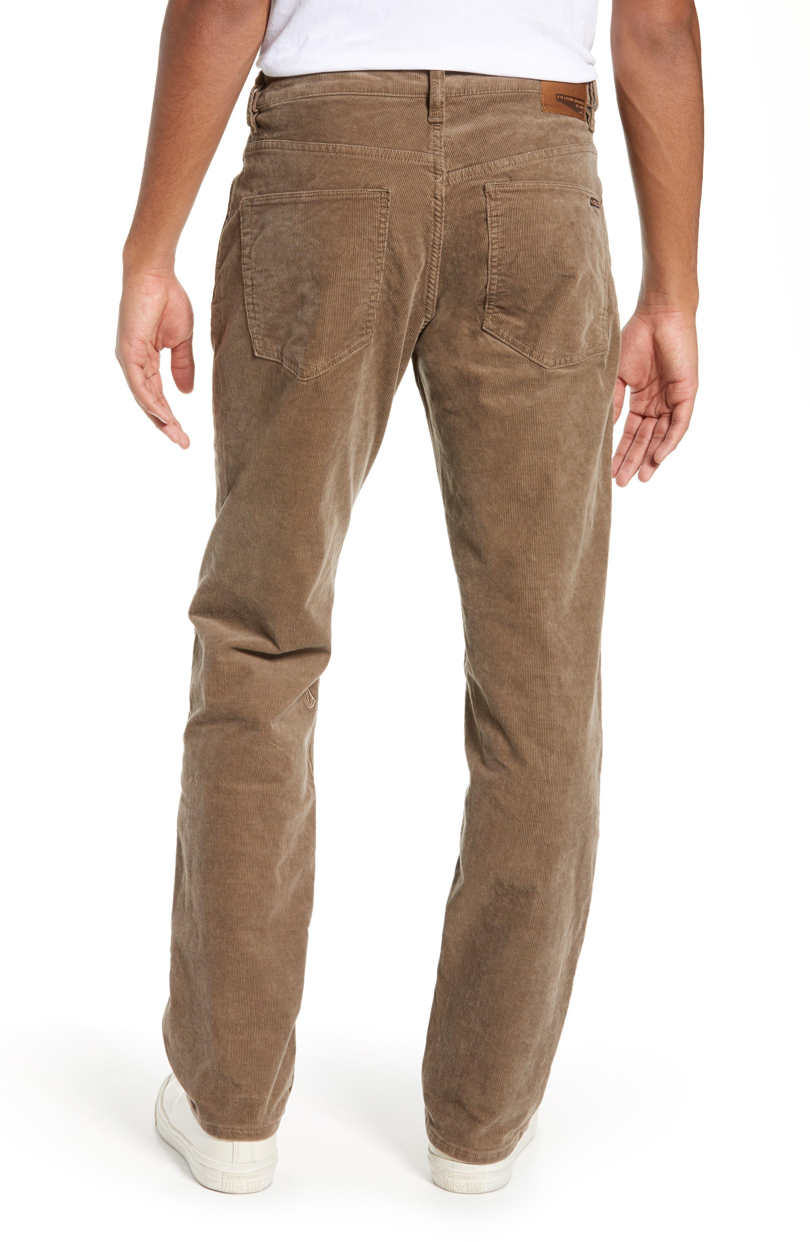 Solver Straight Leg Corduroy Pants,                             Alternate thumbnail 2, color,                             MUSHROOM