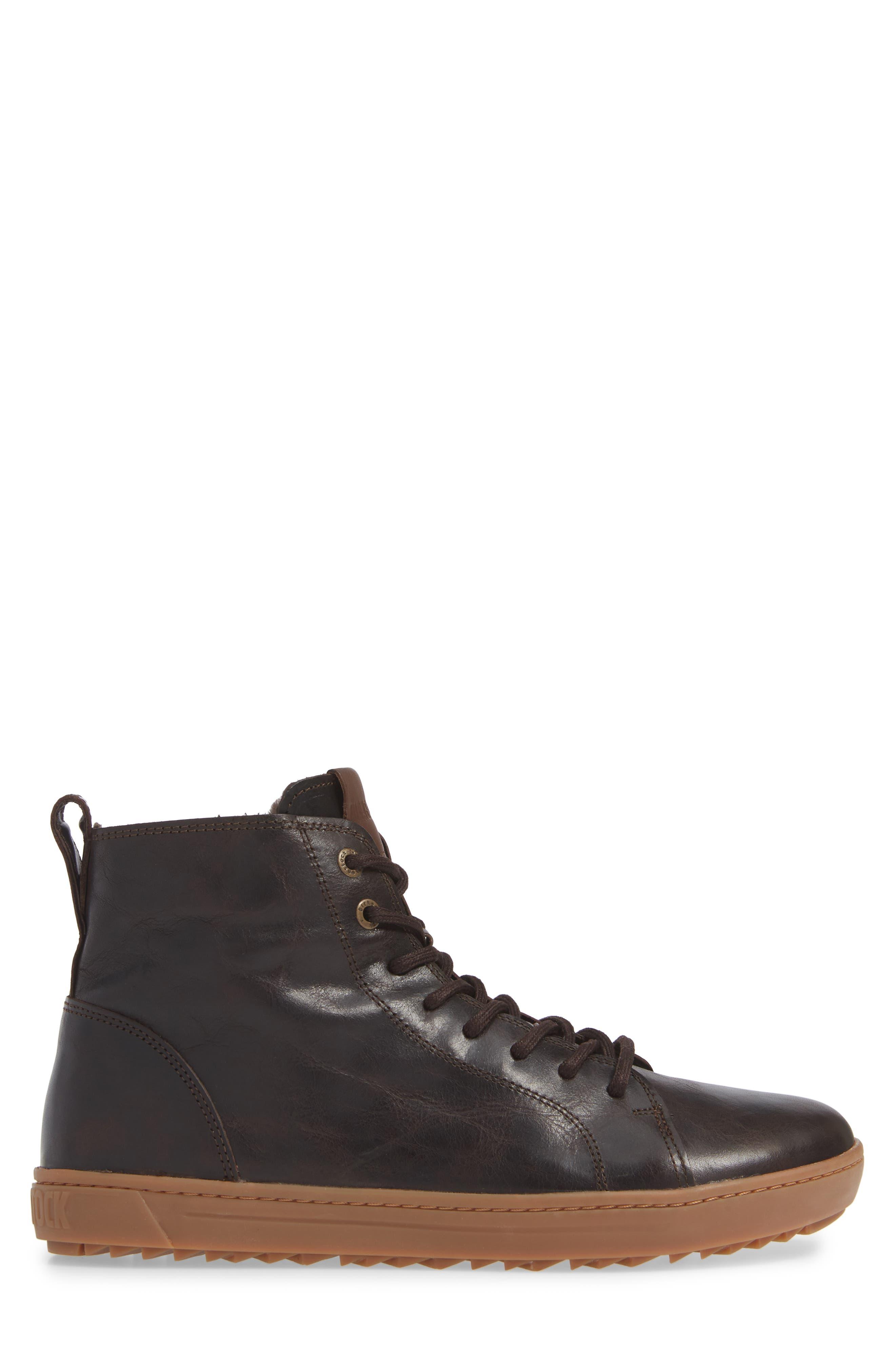 Barlett Genuine Shearling Sneaker,                             Alternate thumbnail 3, color,                             BROWN