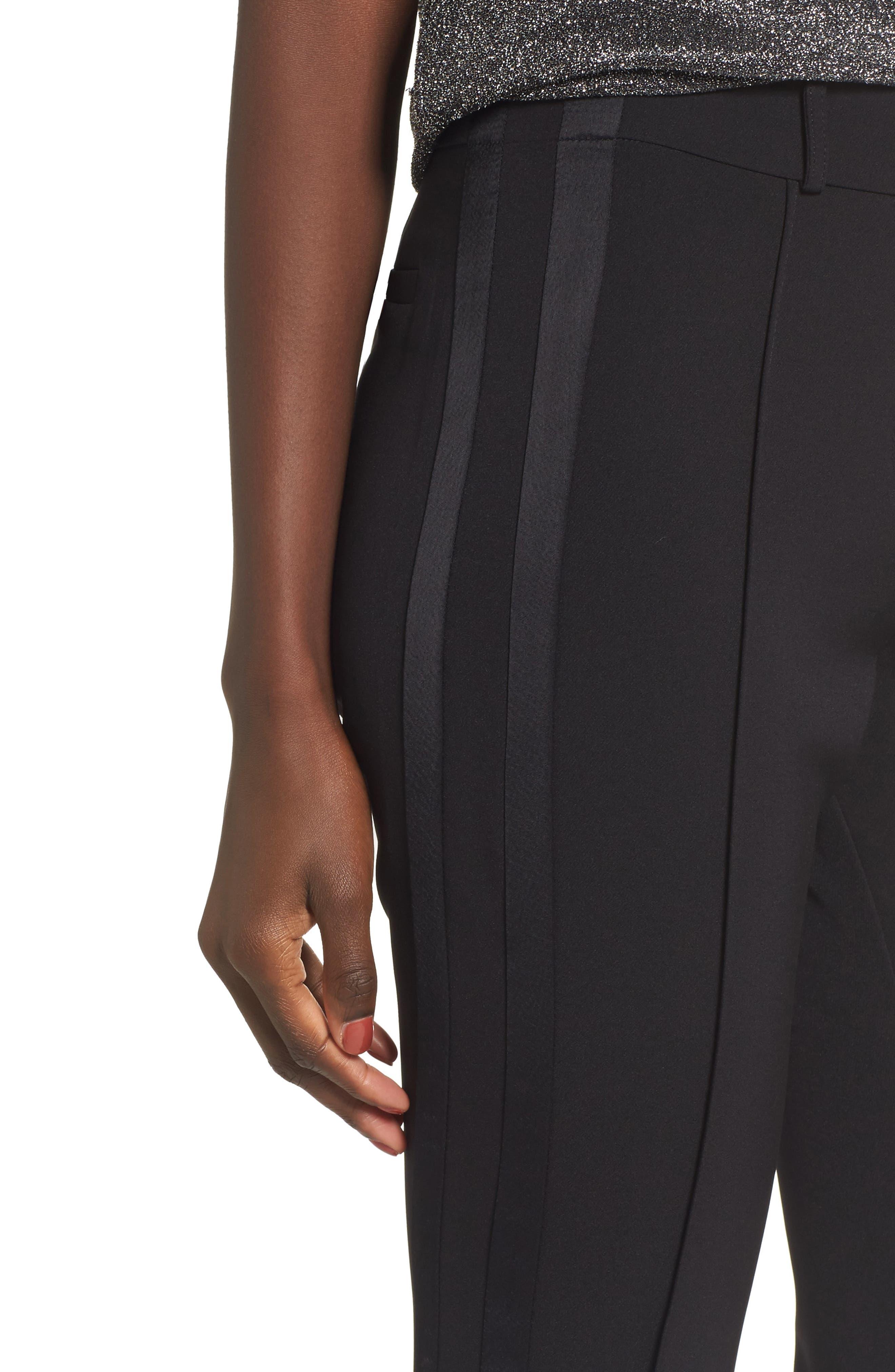 Roxy Flare Leg Pants,                             Alternate thumbnail 4, color,                             001