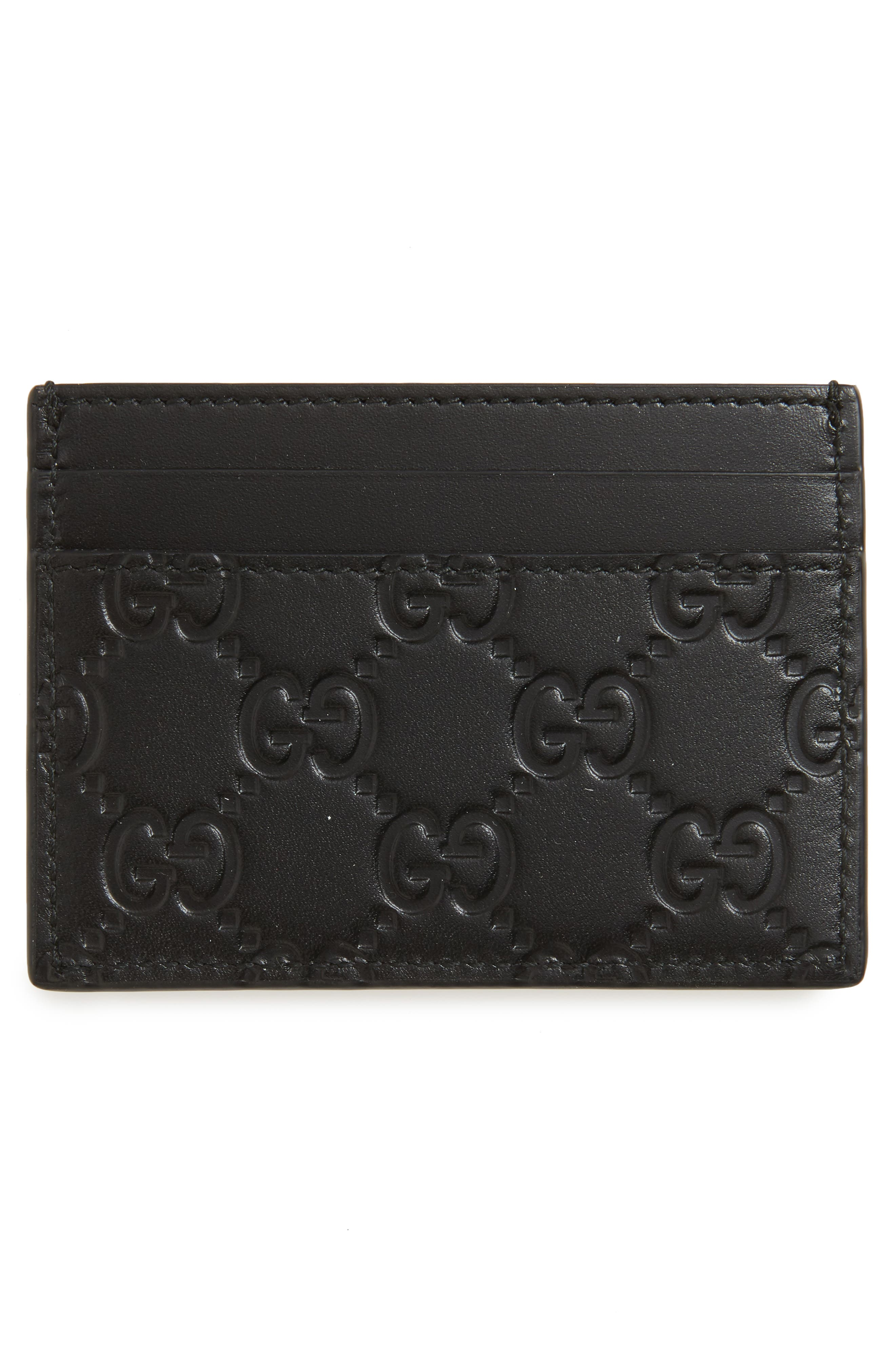 Dorian Leather Card Case,                             Alternate thumbnail 3, color,                             BLACK