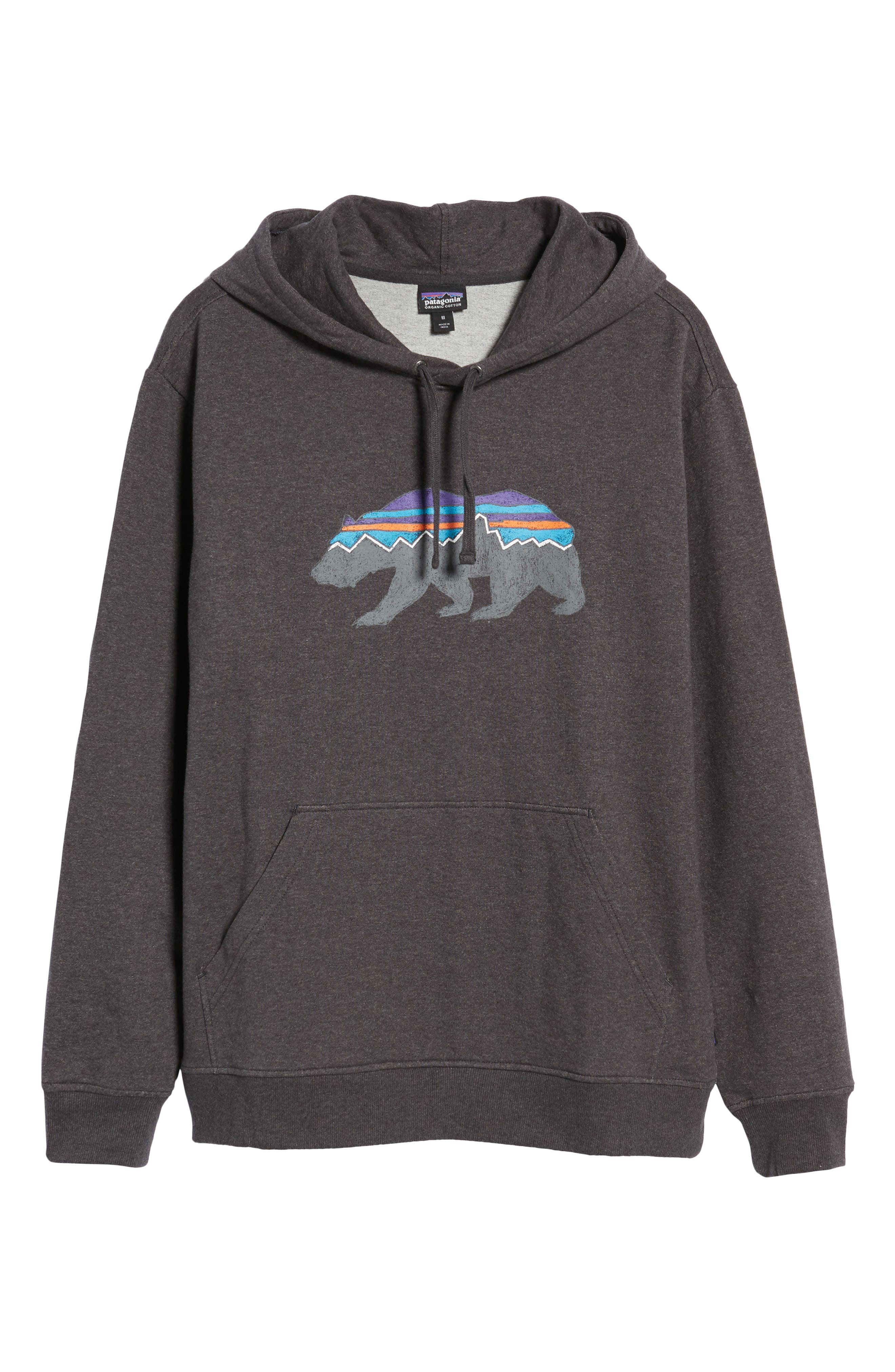 Fitz Roy Bear Graphic Hoodie,                             Alternate thumbnail 6, color,                             001