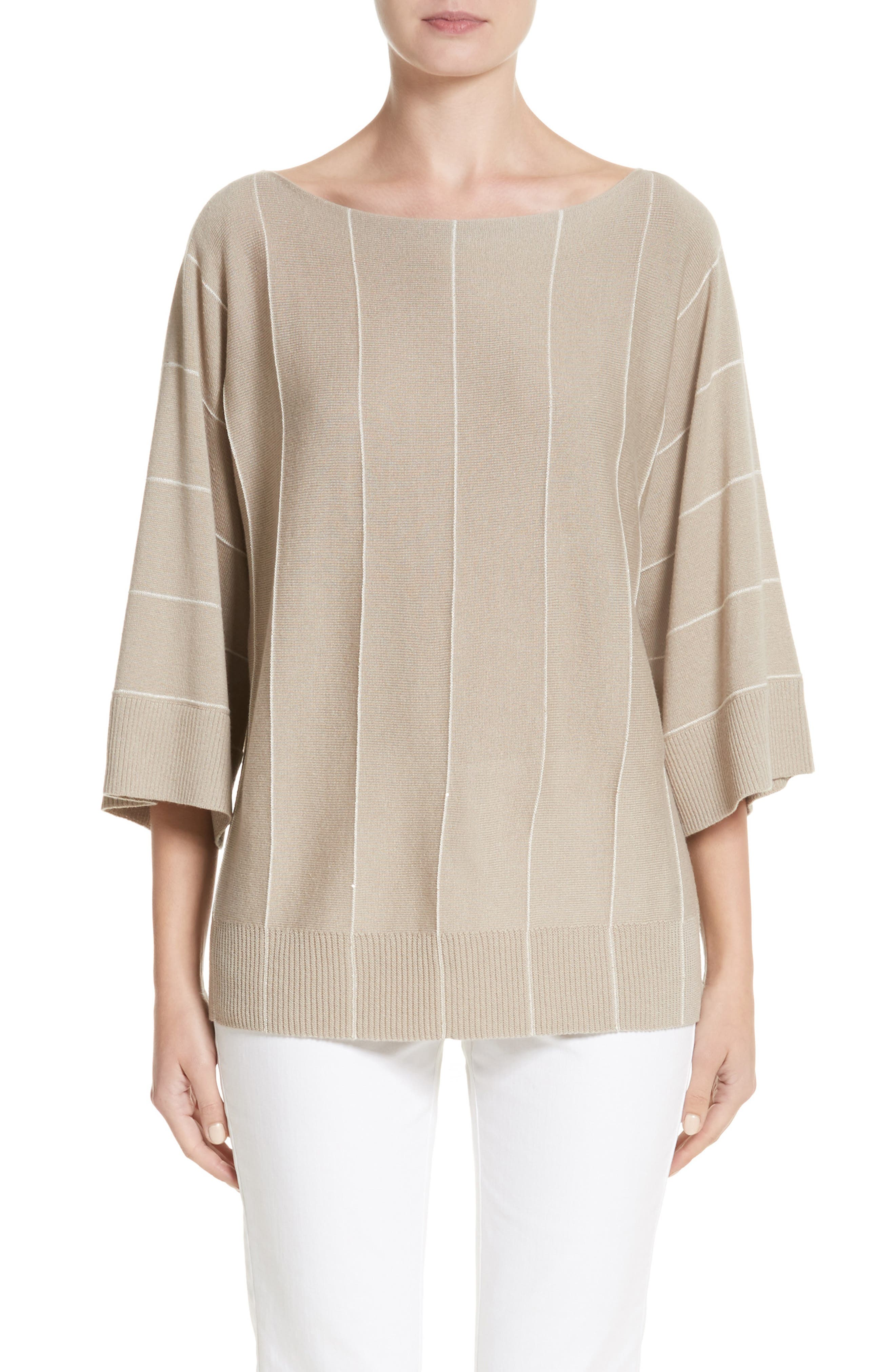 Sequin Knit Cashmere & Silk Pullover,                         Main,                         color, 200