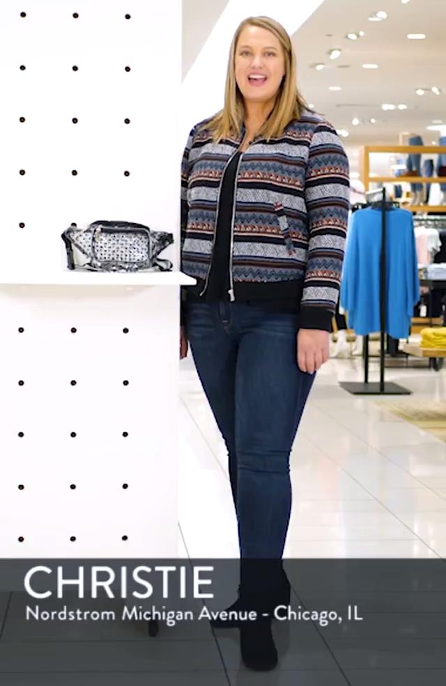 Polka Dot Transparent Belt Bag, sales video thumbnail