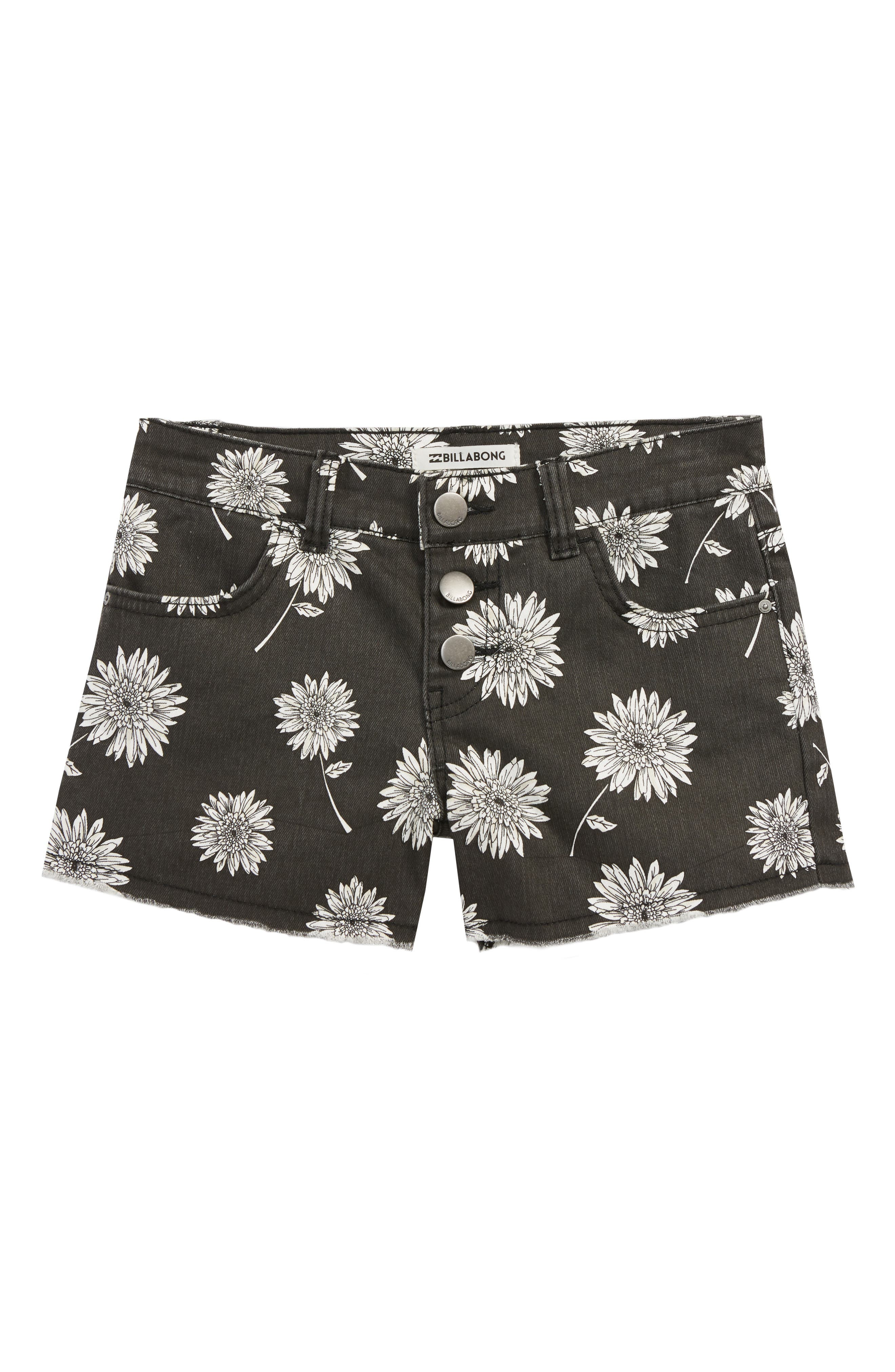Buttoned Up Denim Shorts,                         Main,                         color, 001