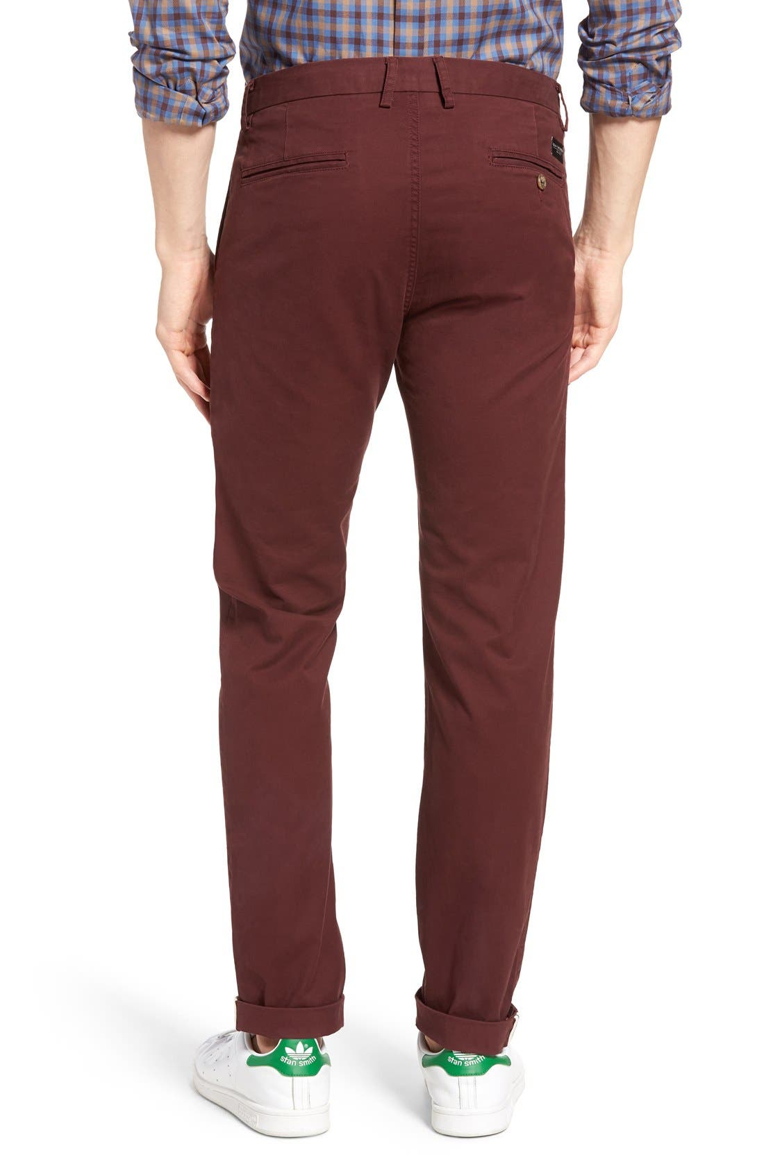 Slim Fit Stretch Chinos,                             Alternate thumbnail 25, color,