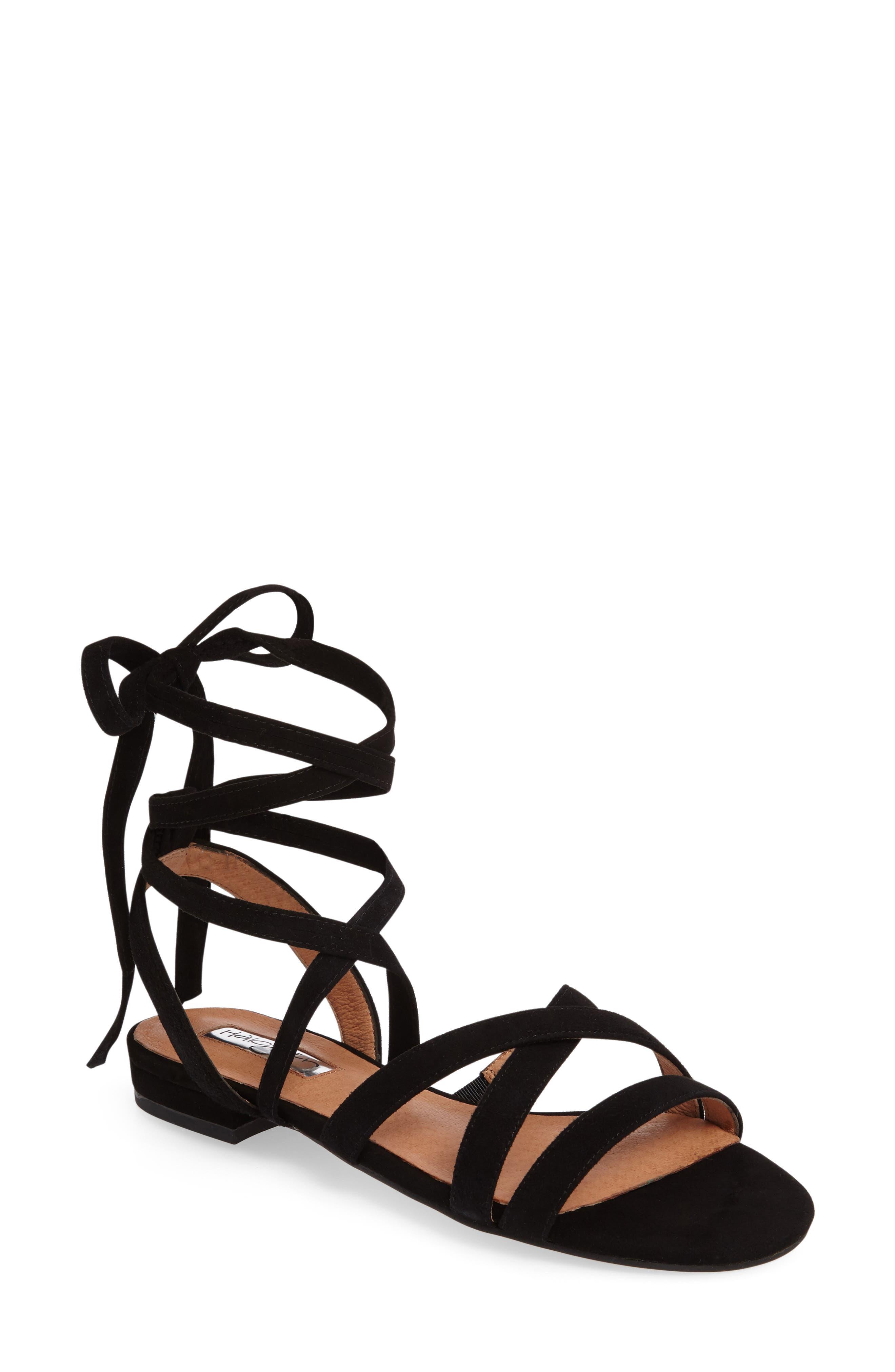 Frances Ankle Wrap Sandal,                             Main thumbnail 1, color,                             001