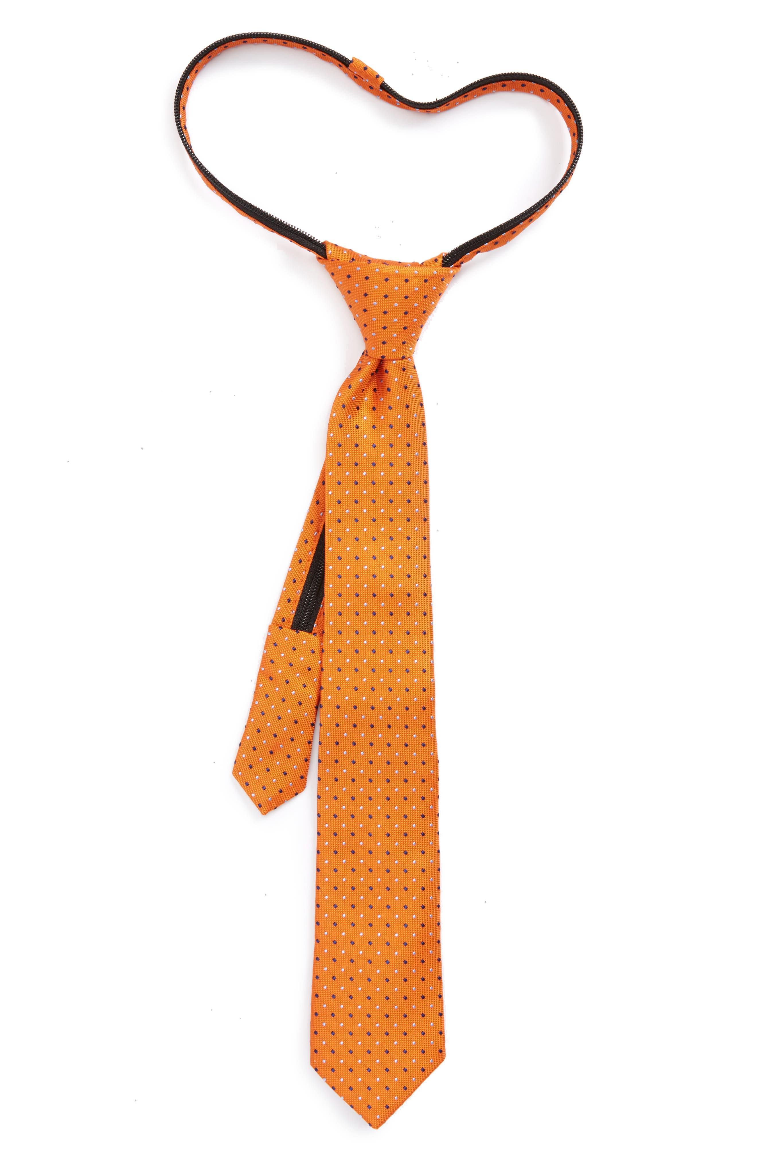 Dot Silk Zip Tie,                             Main thumbnail 5, color,