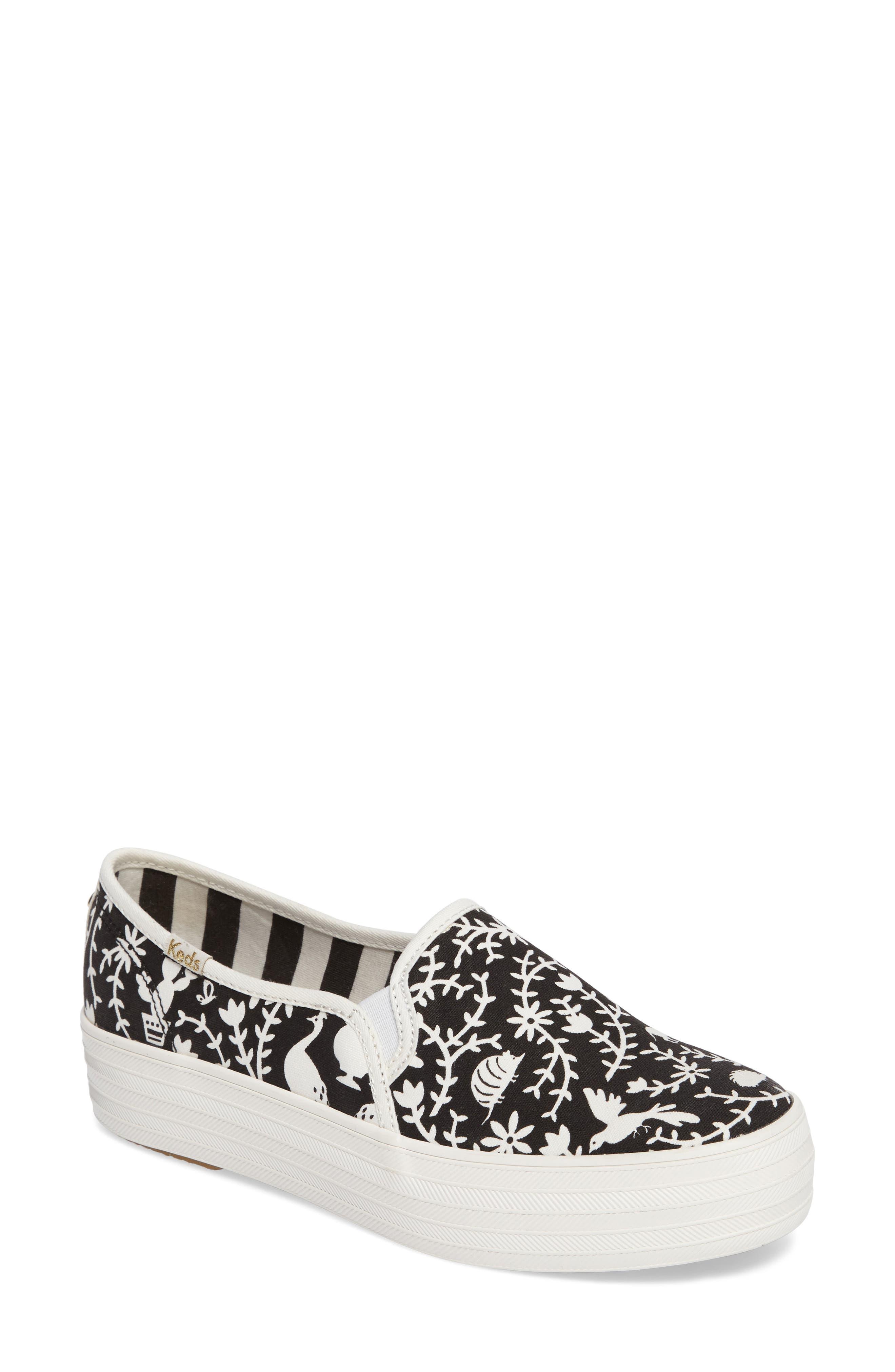 Keds<sup>®</sup> x kate spade Triple Decker Slip-On Sneaker,                         Main,                         color,